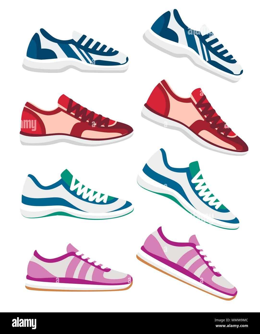 on sale 9ed87 e7023 Sneaker Schuh. Sportliche sneakers Vector Illustration ...