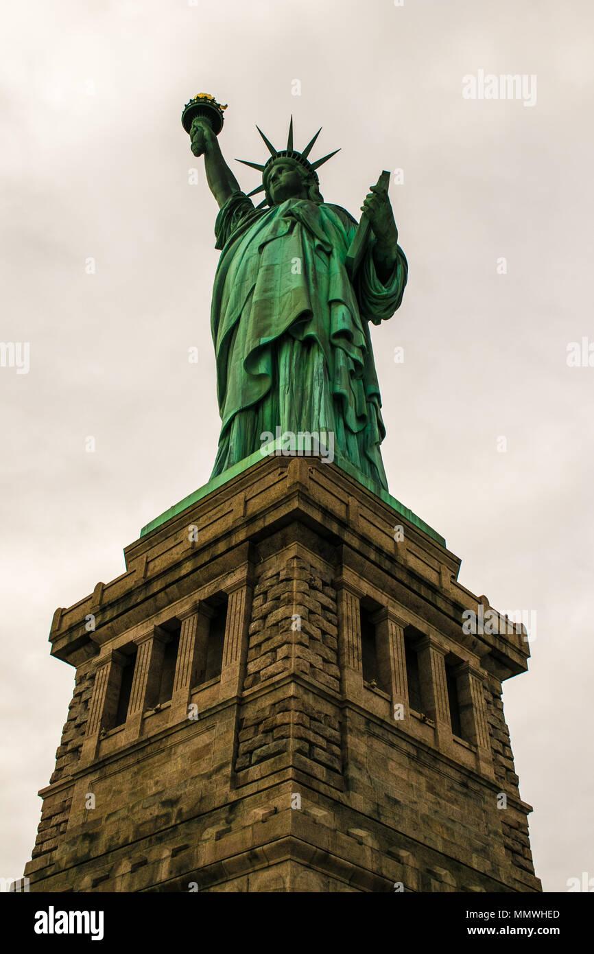 Freiheitsstatue, Liberty Island, New York City, USA Stockbild