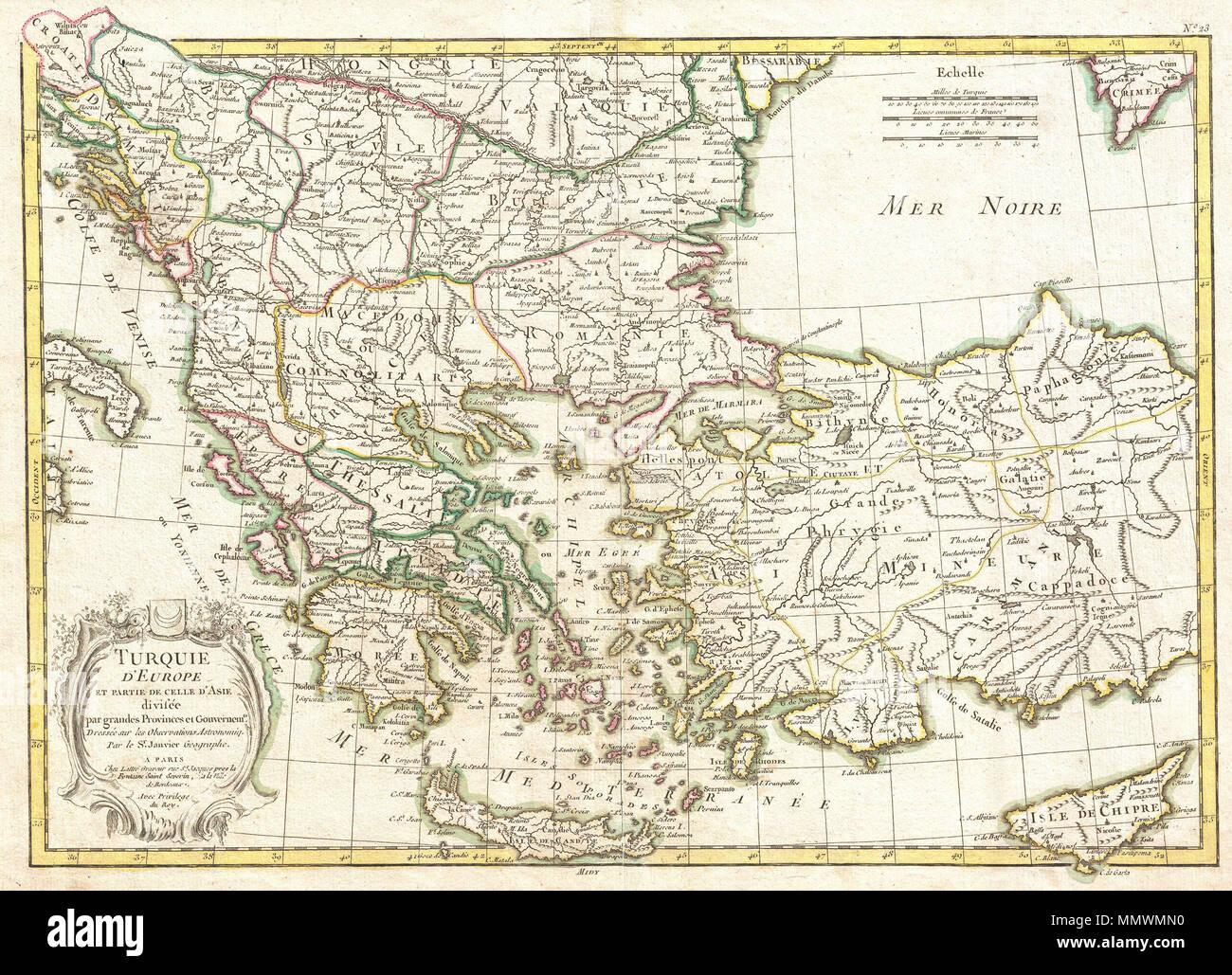 Karte Türkei Kappadokien.Englisch Ein Schönes Beispiel Für Die Janvier 1771 Dekorative Karte