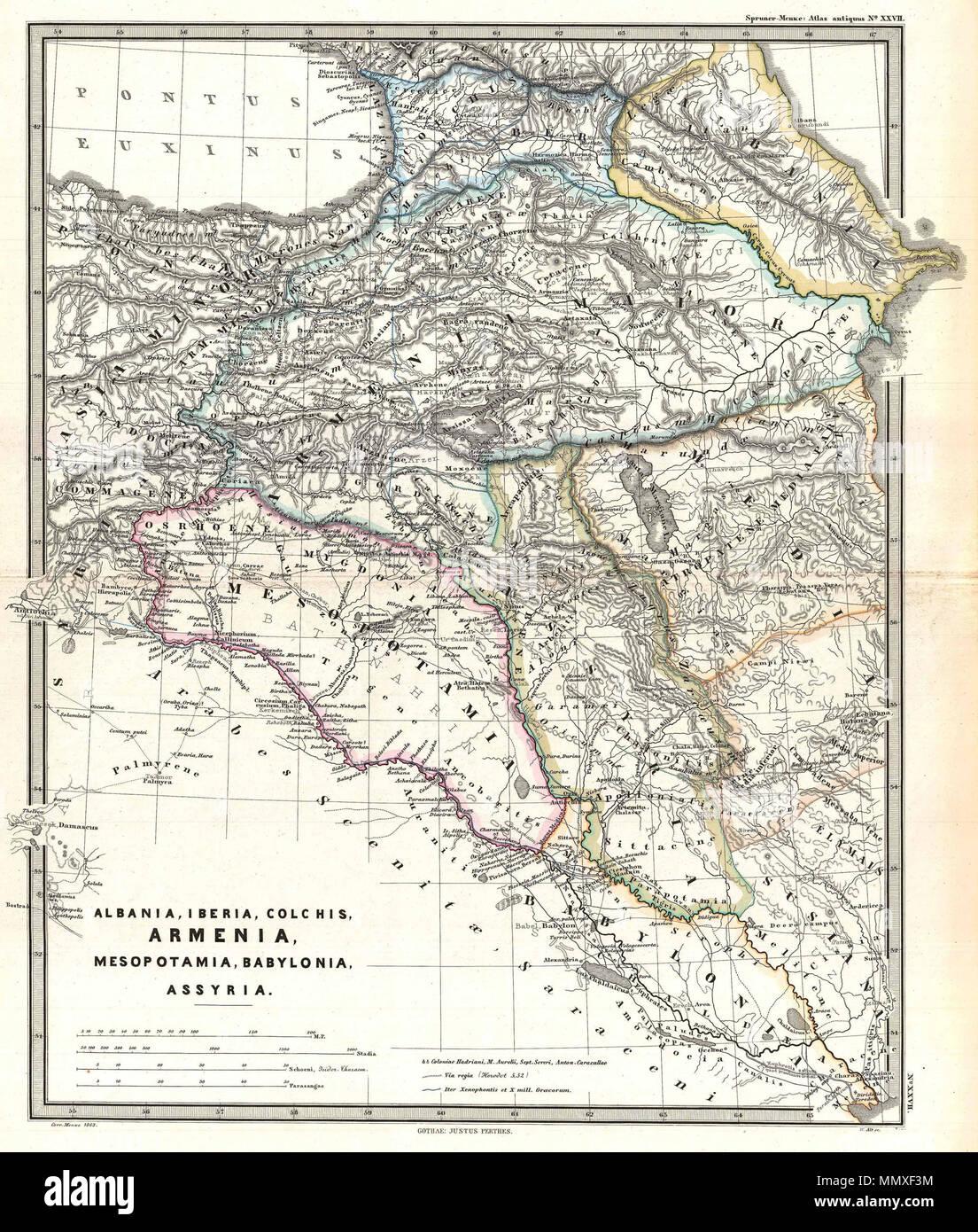 Georgien Karte Regionen.Englisch Eine Besonders Interessante Karte Karl Von Spruner S
