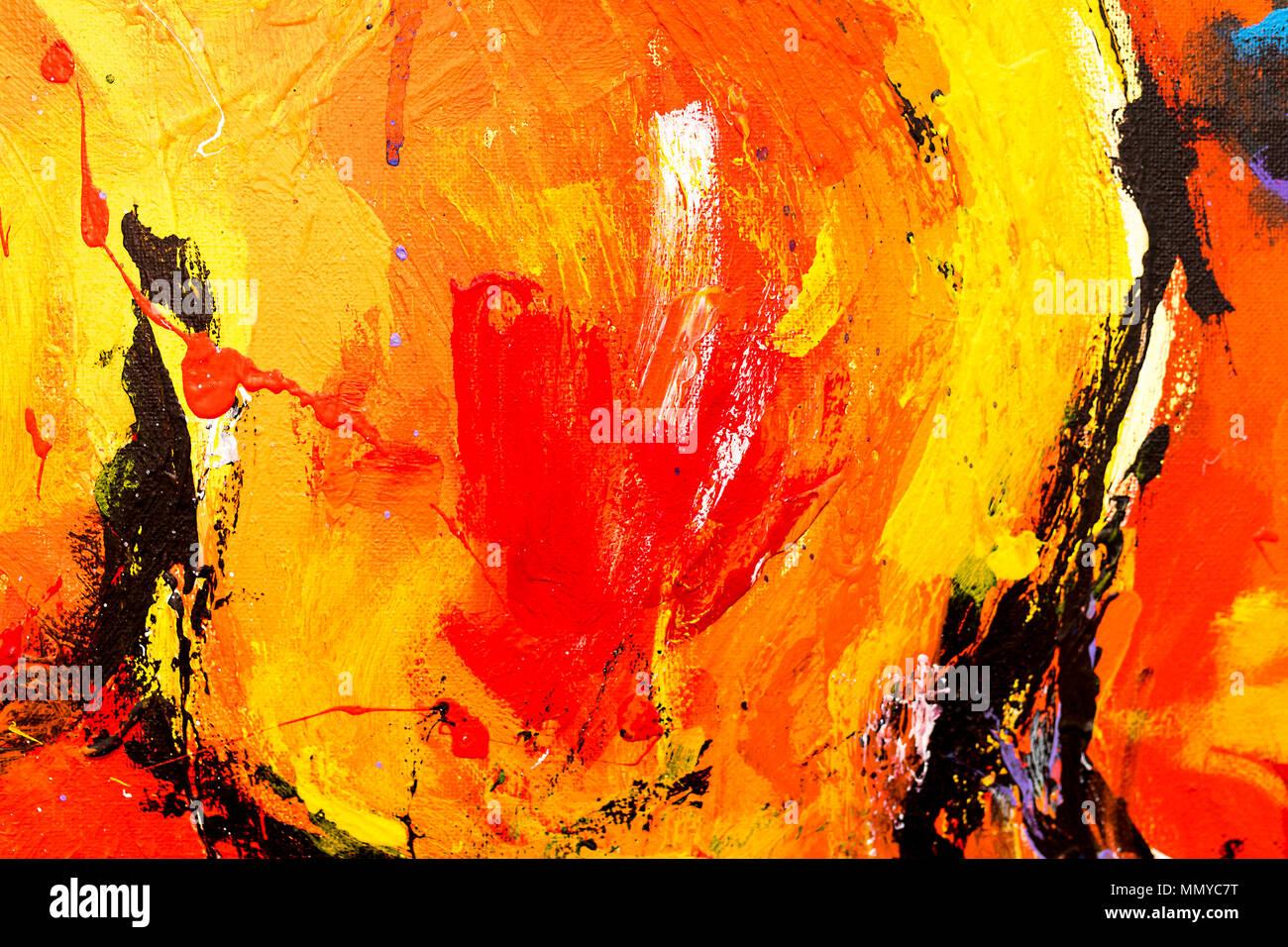 warme farben malerei, eine lebendige, farbenfrohe und Öl und acryl abstrakte malerei auf, Innenarchitektur
