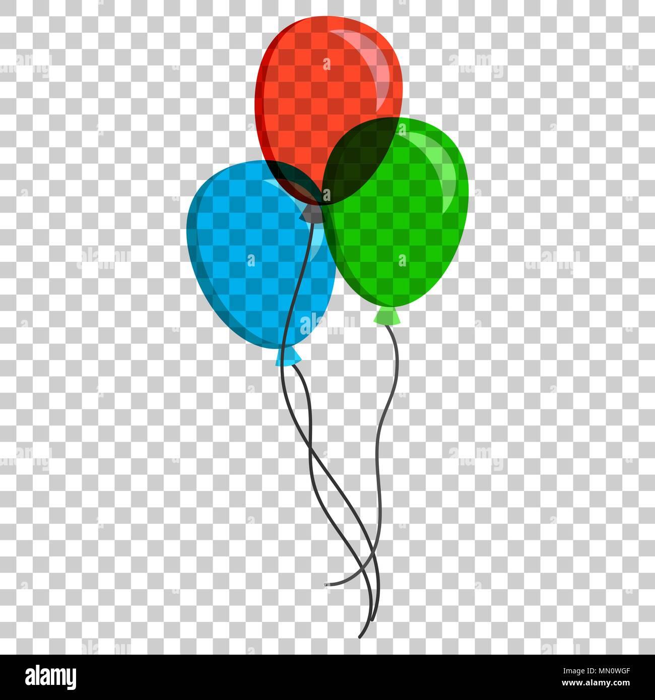 Heissluftballon Flachbild Vektor Icon Geburtstag Ballon Abbildung