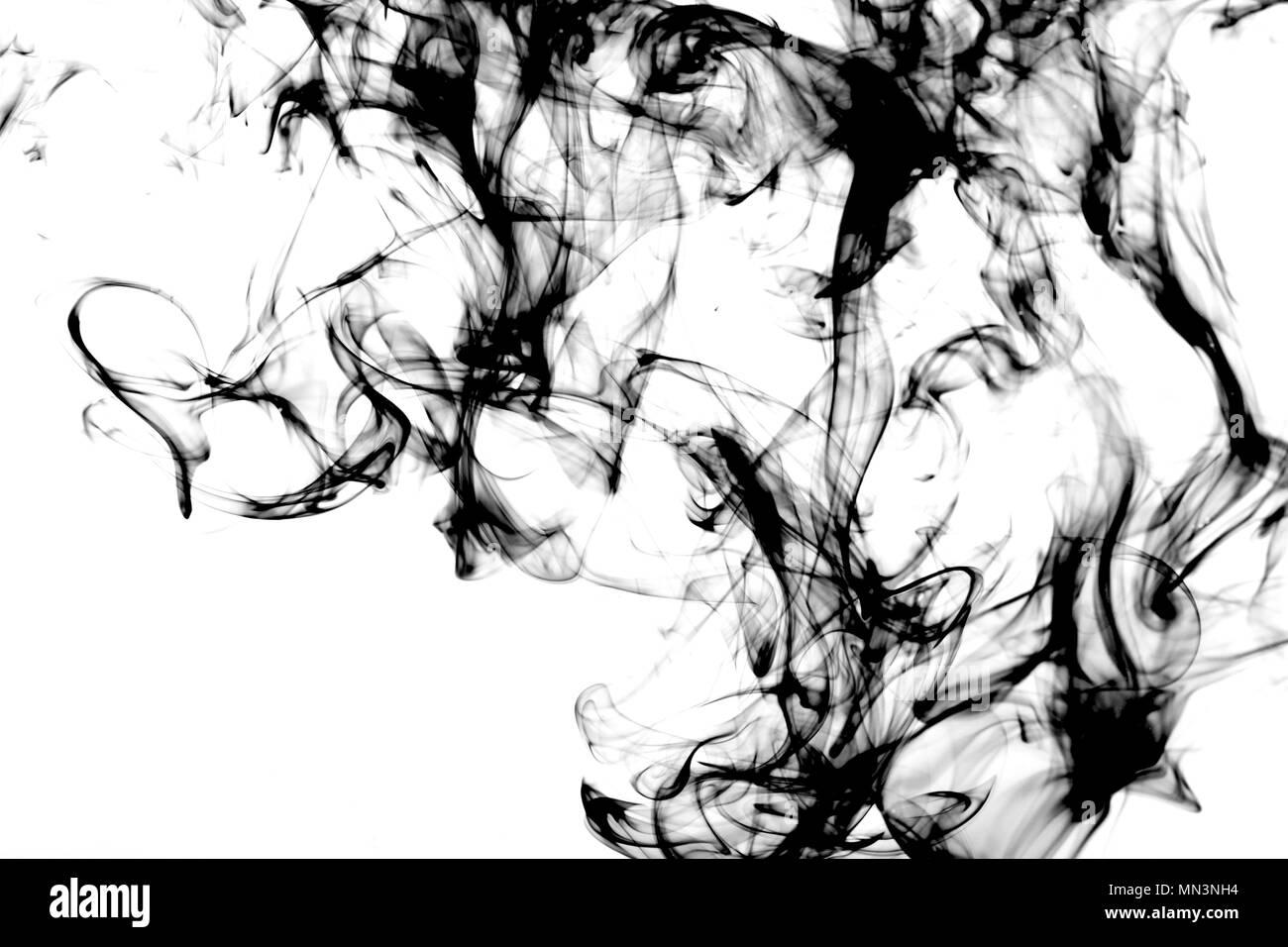 Bunte Abstraktion auf weißem Hintergrund, Studio, Beleuchtung Stockbild