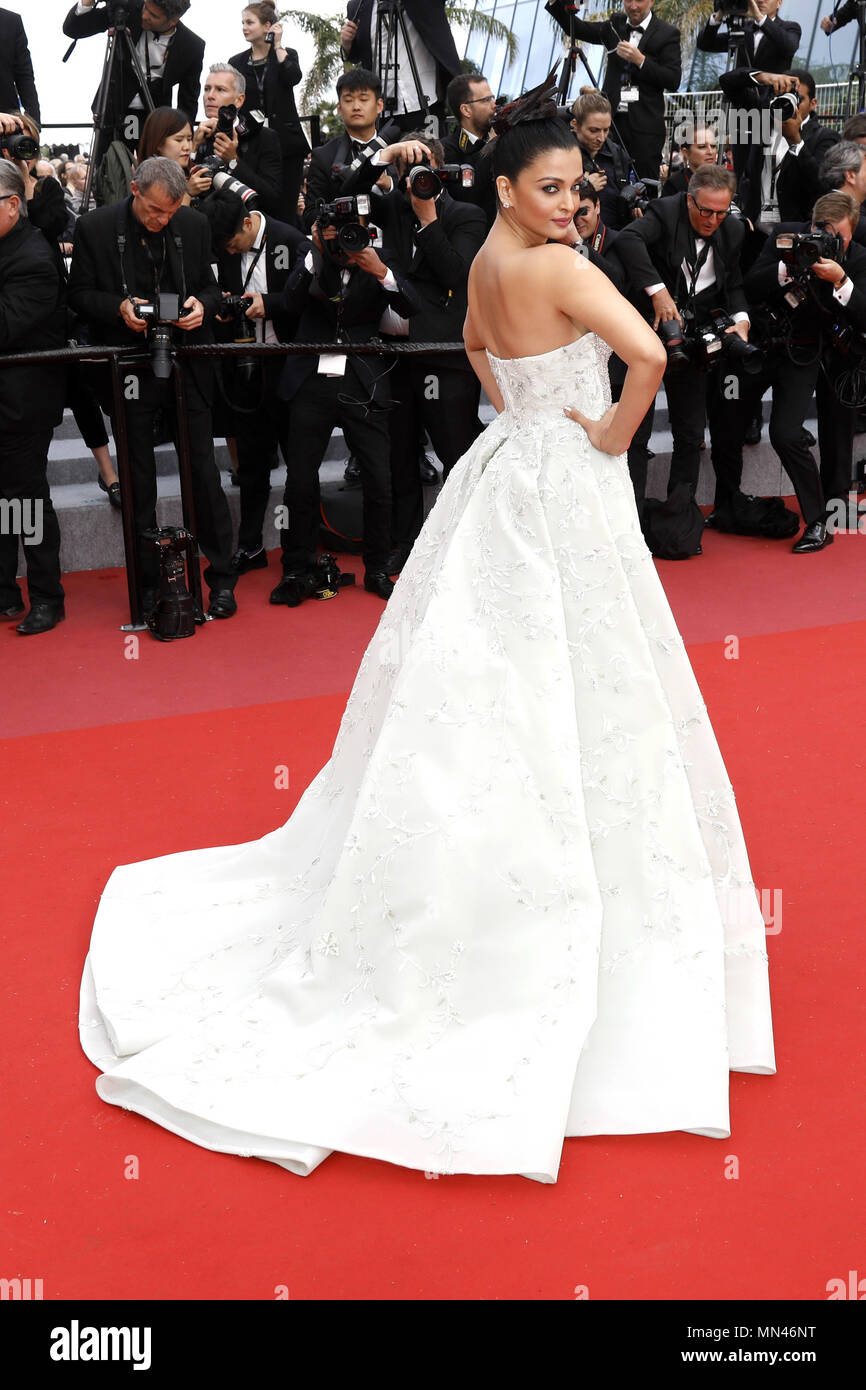 Cannes Frankreich 13 Mai 2018 Aishwarya Rai Die Die Tinte Oder