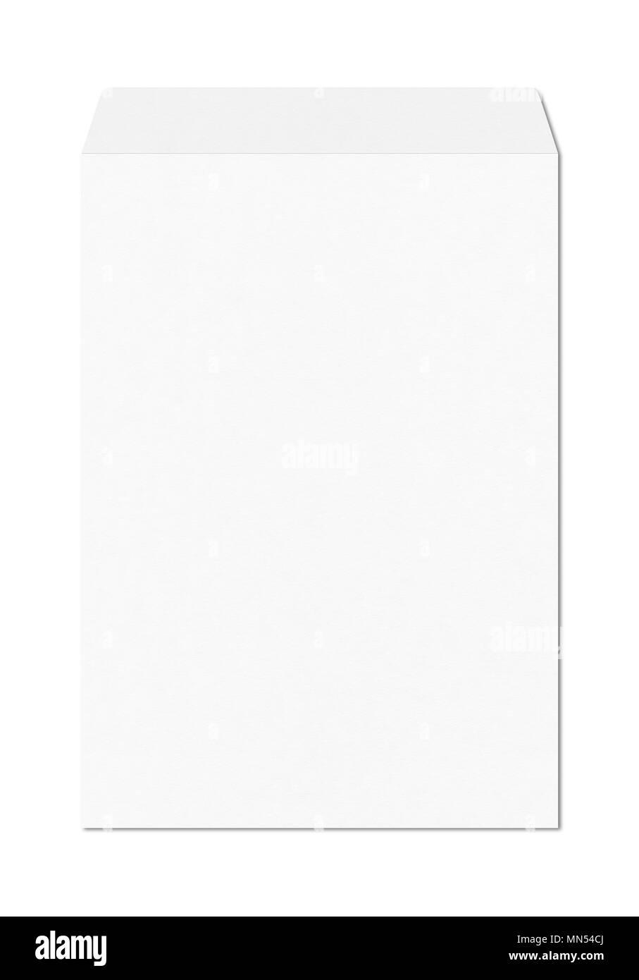 Große A4 Briefumschlag Mockup Vorlage Auf Weißem Hintergrund