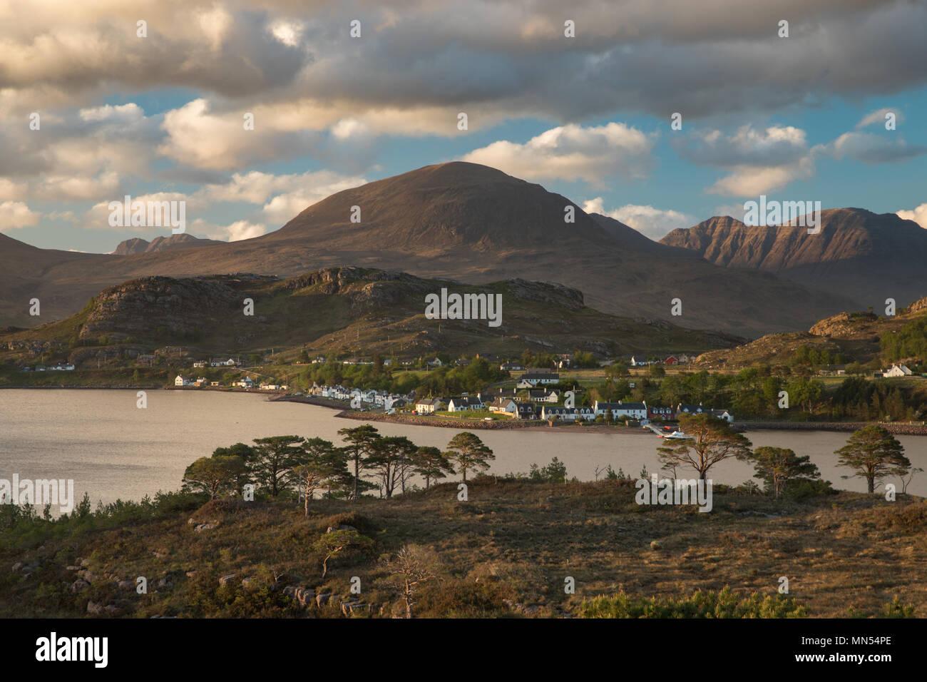 Shieldaig, Loch Torridon, Wester Ross, Schottland, Stockbild