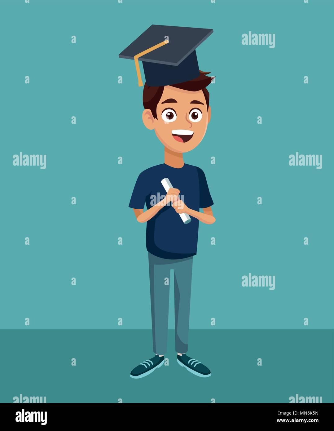 High School Ausbildung Cartoon Vektor Abbildung Bild 185158225