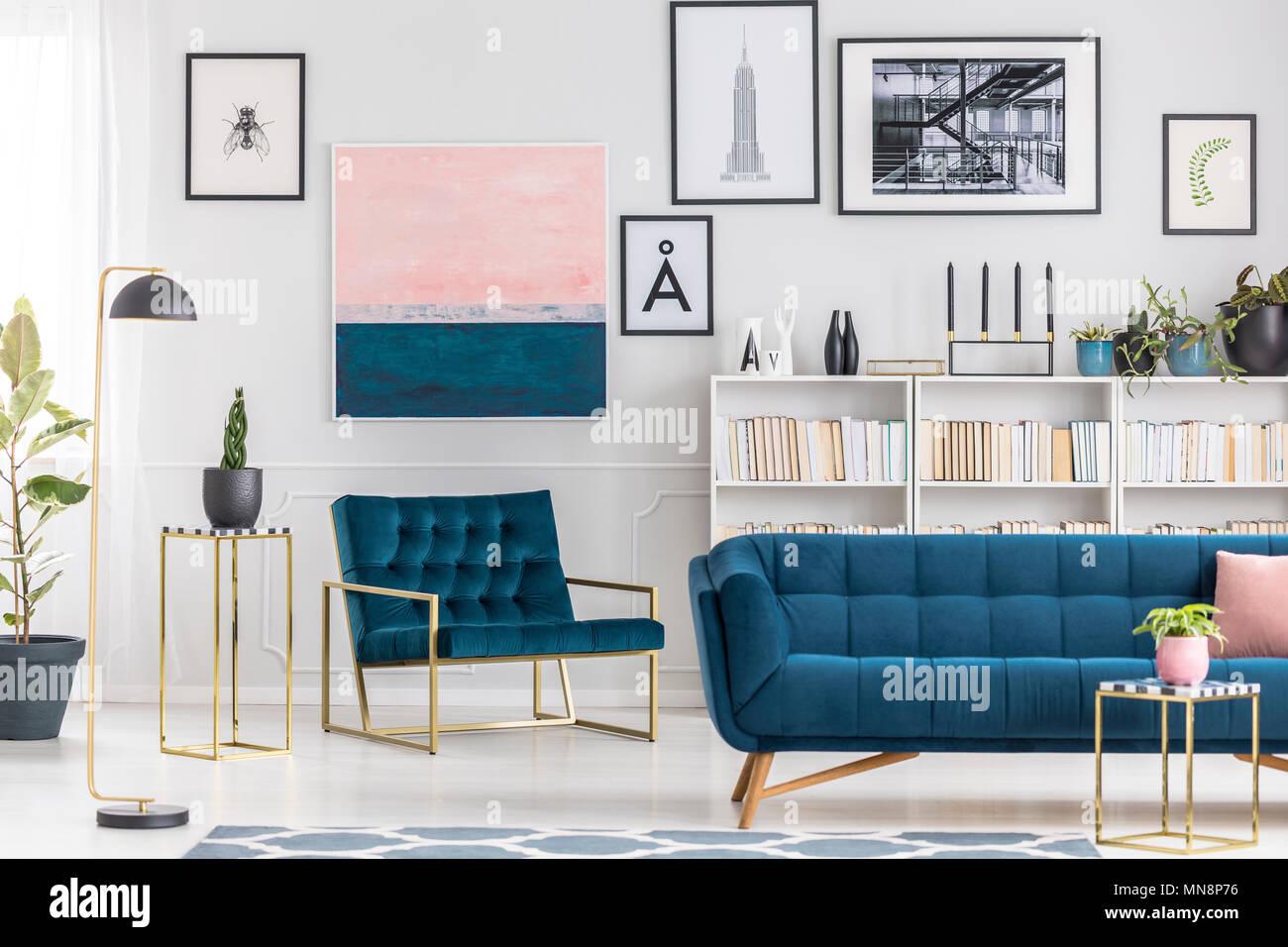 Bekannt Blaues Sofa IK46