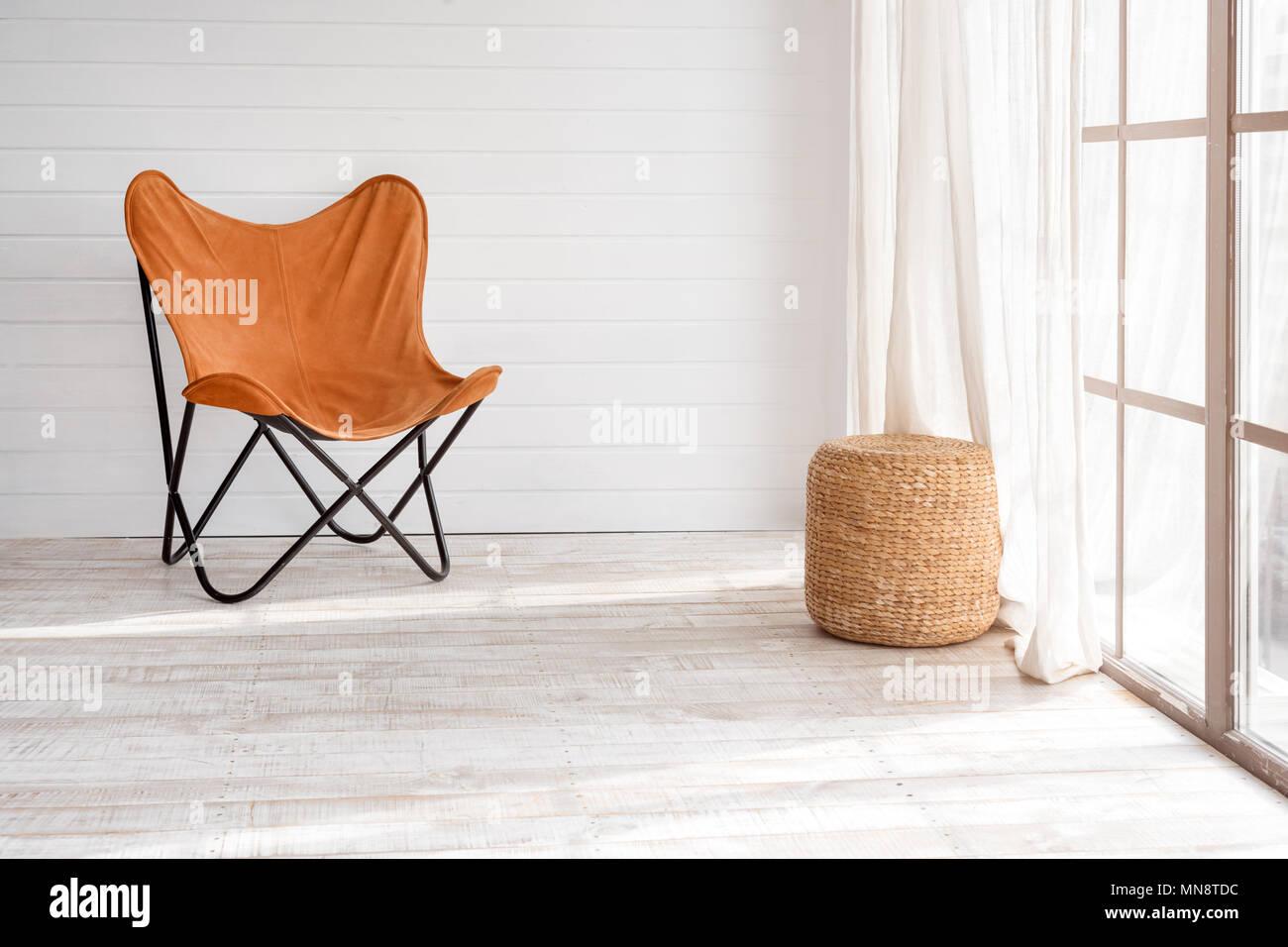 Moderne Sessel In Der Modernen Loft Sonnigen Tag Im Hellen