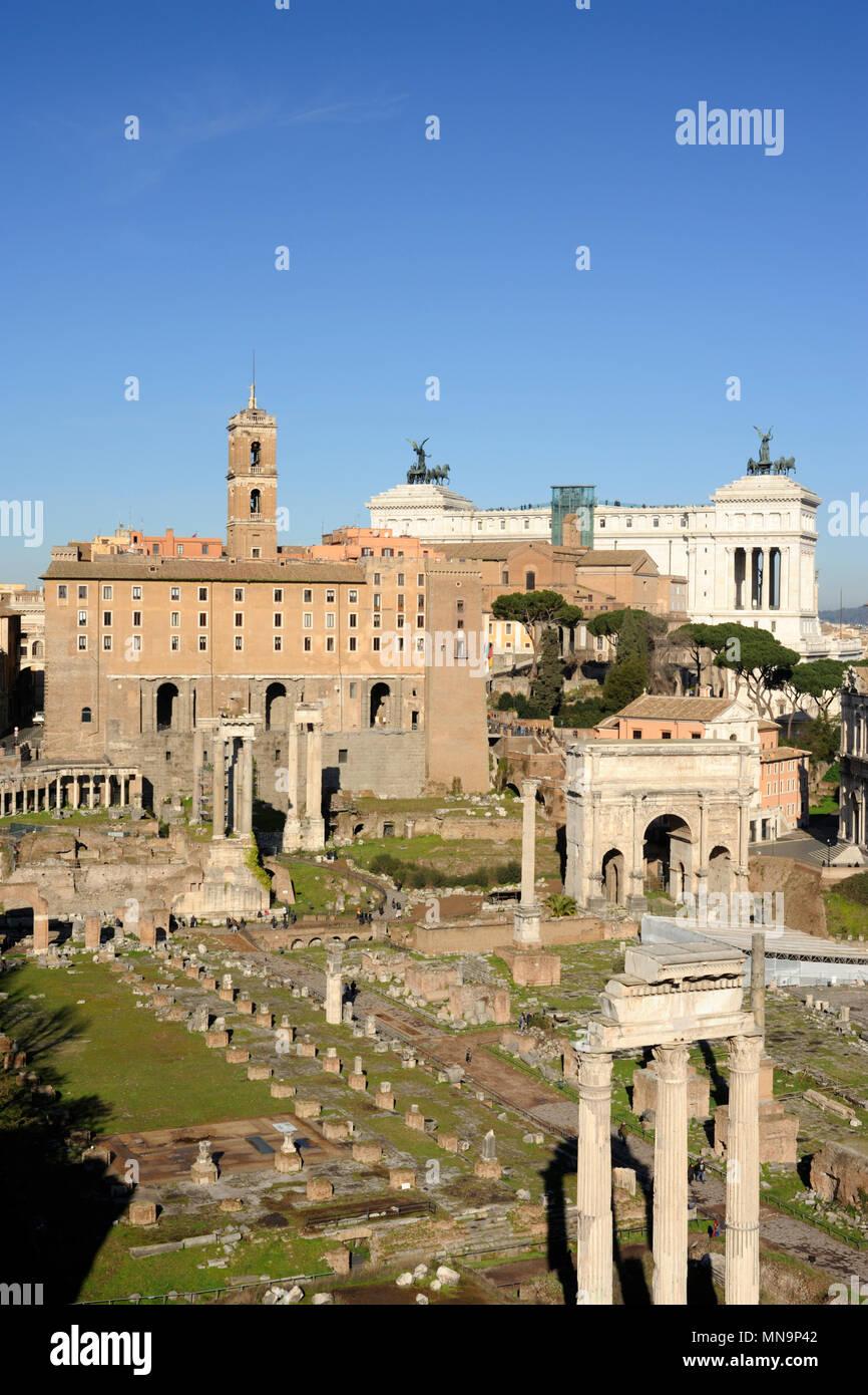 Italien, Rom, Forum Romanum Stockbild