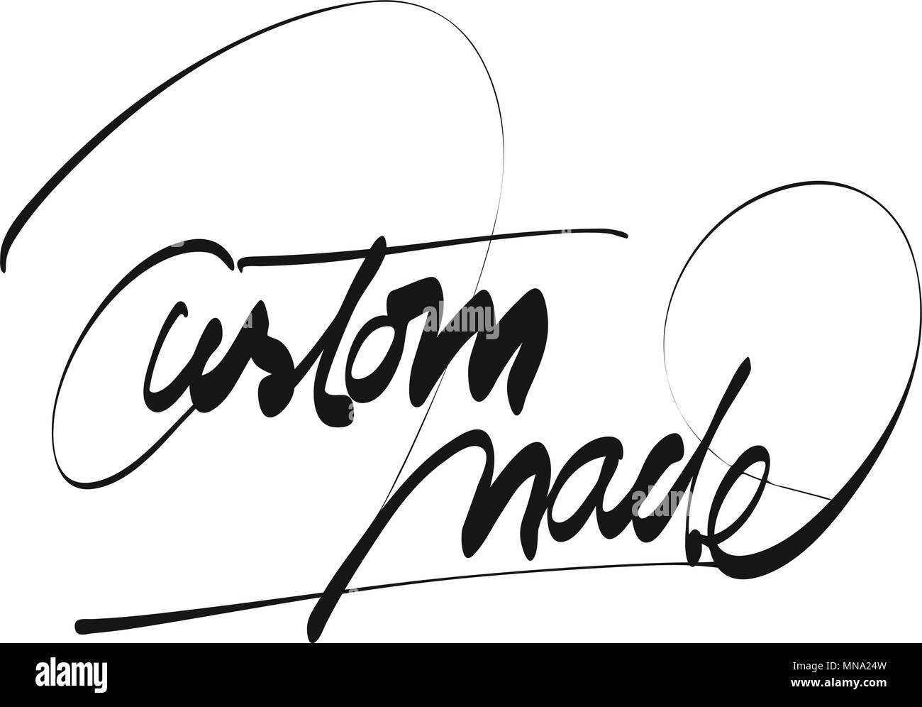 Custom Made Titel Hand Schriftzug, Vektor skizzieren