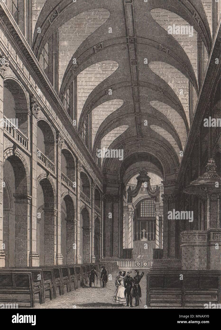 PARIS. L'Interieur de la Chapelle des Invalides. BICKNELL 1845 alten Drucken Stockbild