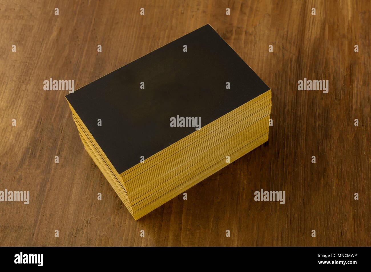 Ein Modell Für Einen Stapel Von Schwarzen Visitenkarten Mit