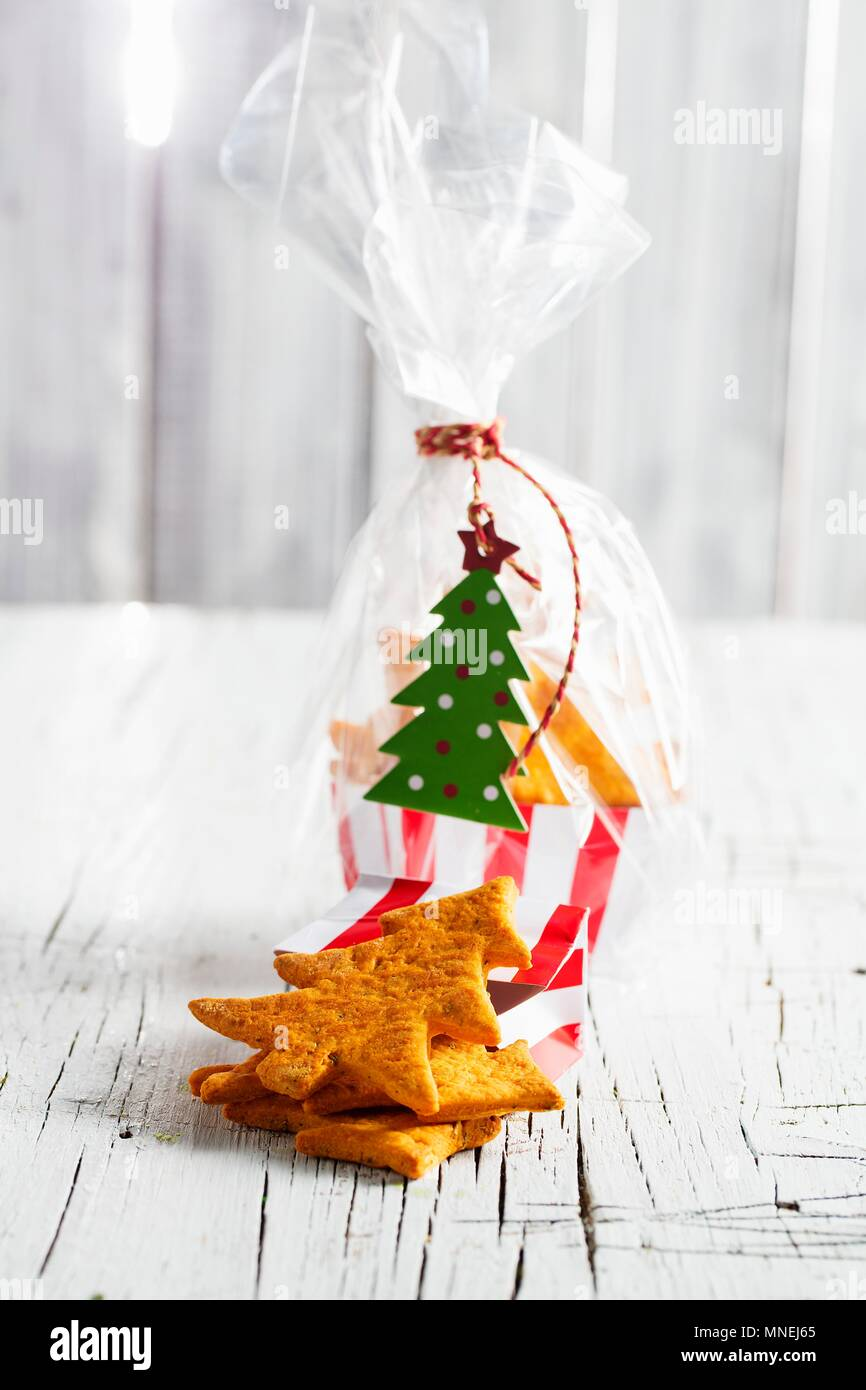 Weihnachten Kekse als Geschenk zu geben Stockfoto, Bild: 185333069 ...