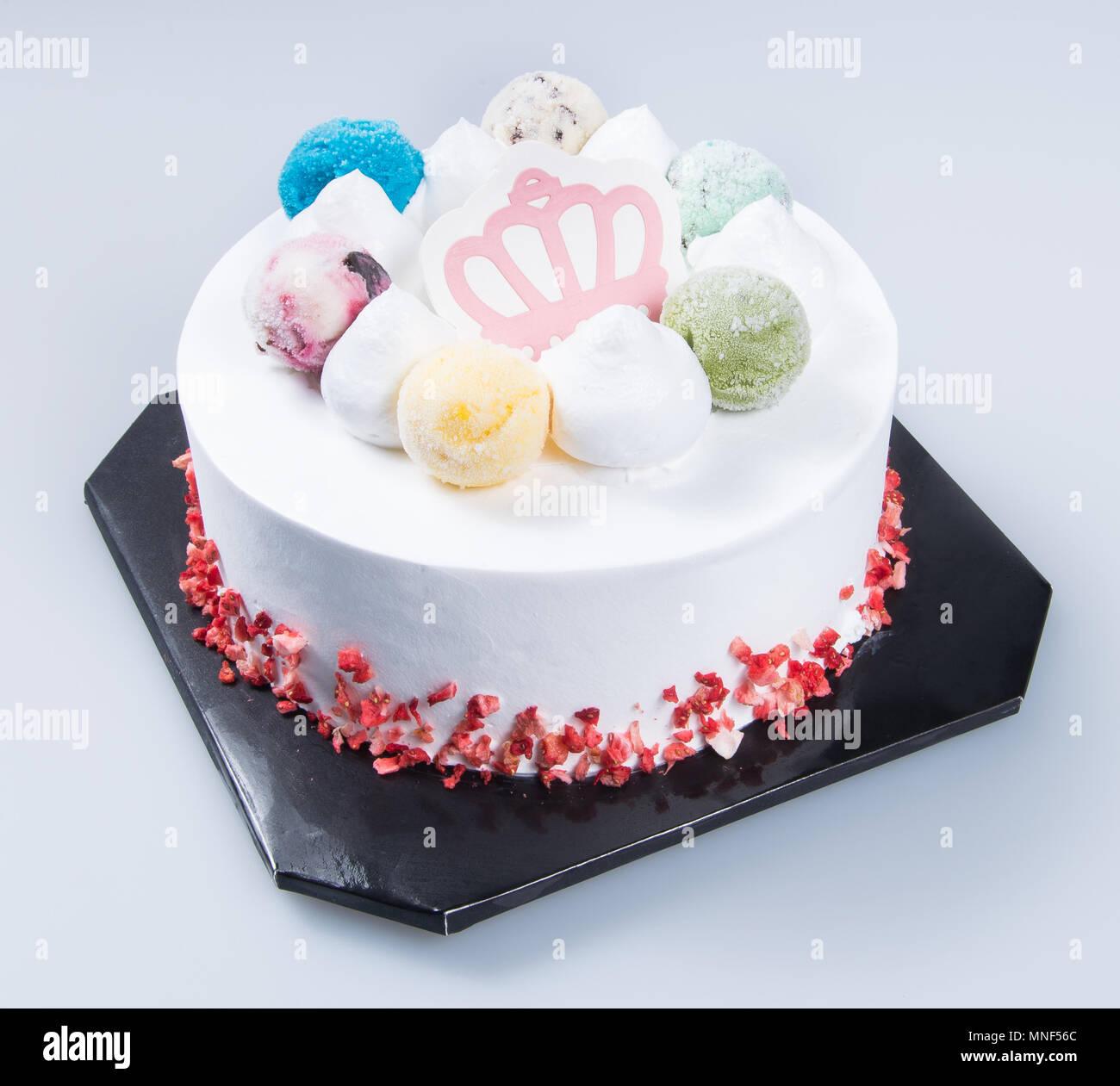 Kuchen Oder Muttertag Kuchen Mit Konzept Auf Einem Hintergrund