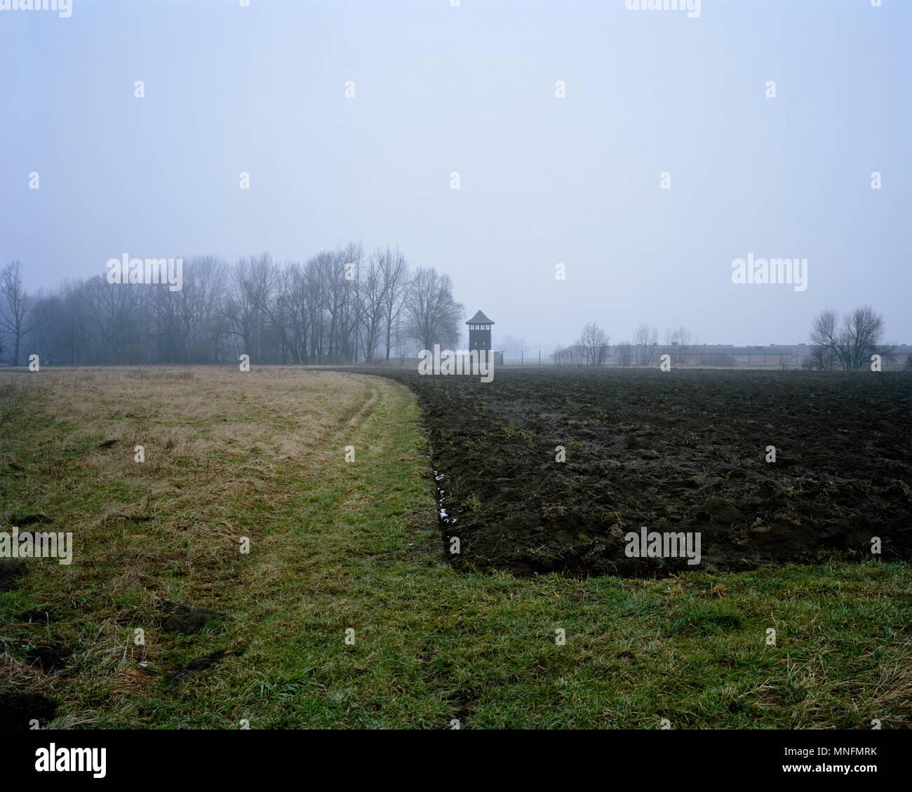 Befreiten n 27. Januar 1945. Auschwitz II-Birkenau Konzentrationslager in der Stadt im Südwesten von Polen. Stockbild