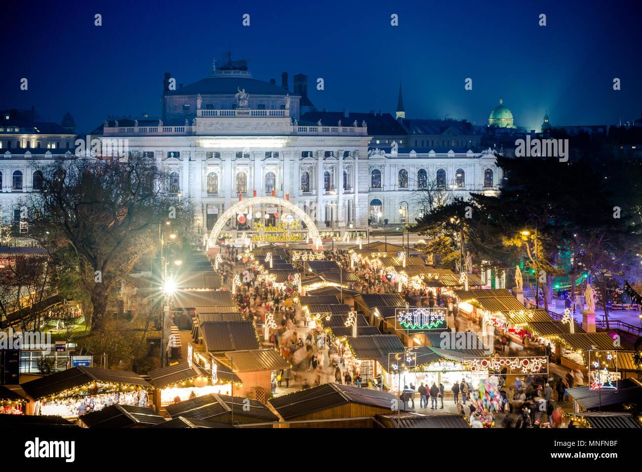 Wo Ist Der Größte Weihnachtsmarkt.Traditionelle Weihnachtsmarkt In Wien österreich Wichtige