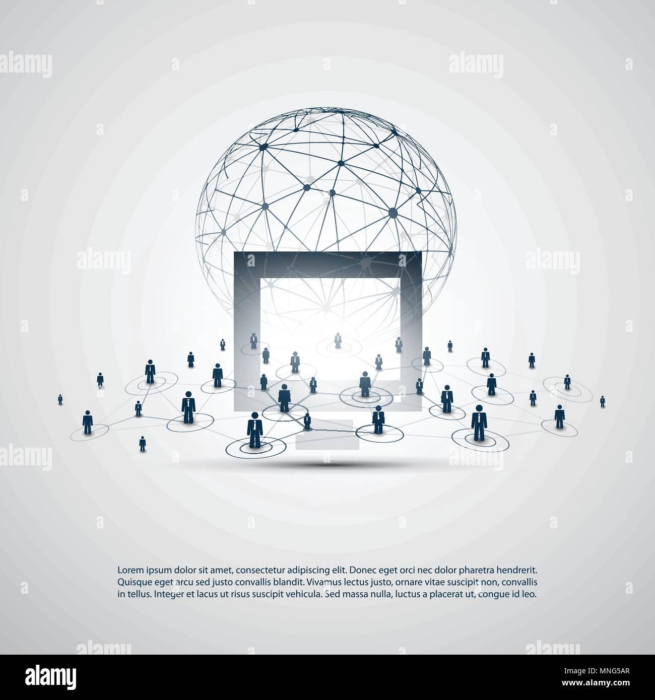 Netzwerke Geschäftsverbindungen Abstrakte Cloud