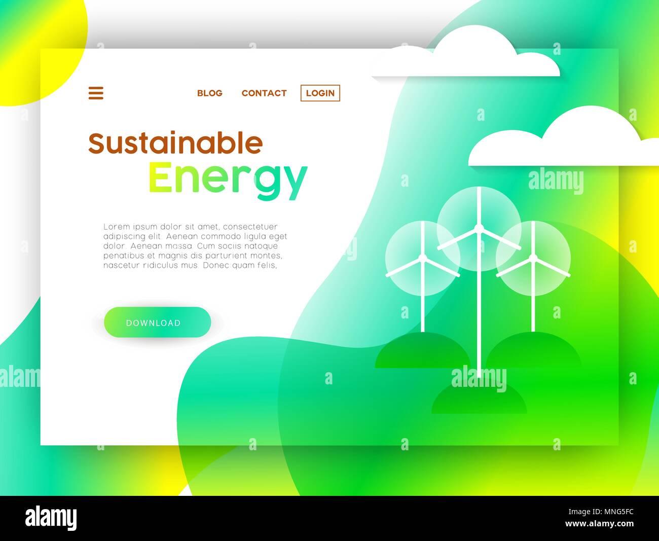 Landing Page Für Kampagne Für Nachhaltige Energie Online Internet
