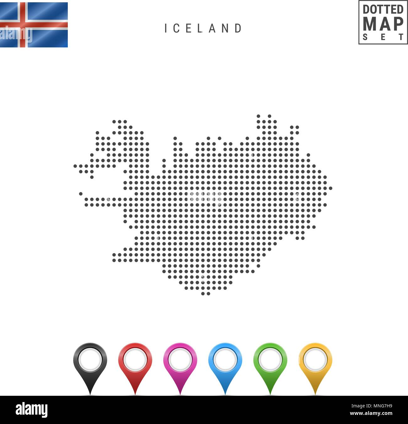 Iceland Map Vector Stockfotos & Iceland Map Vector Bilder - Alamy