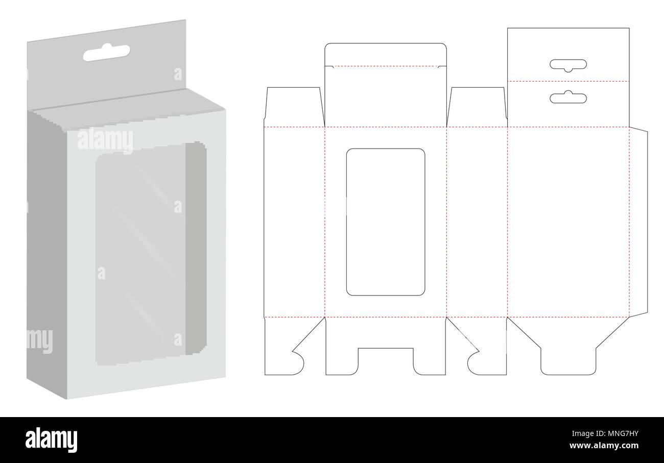 Box Verpackung Gestanzt Vorlage Design Premium Vektor