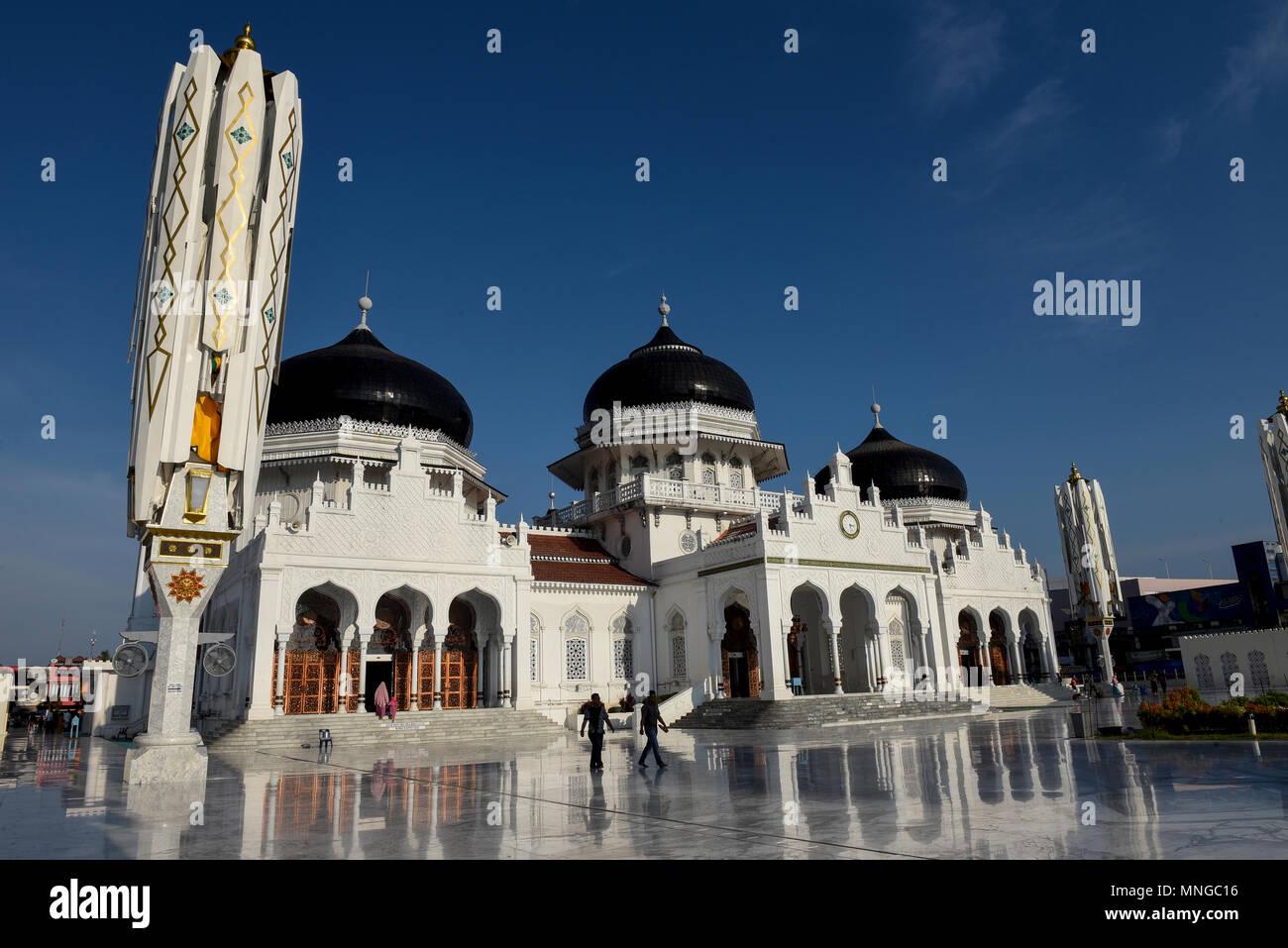 Die Große Moschee Baiturrahman Stockbild