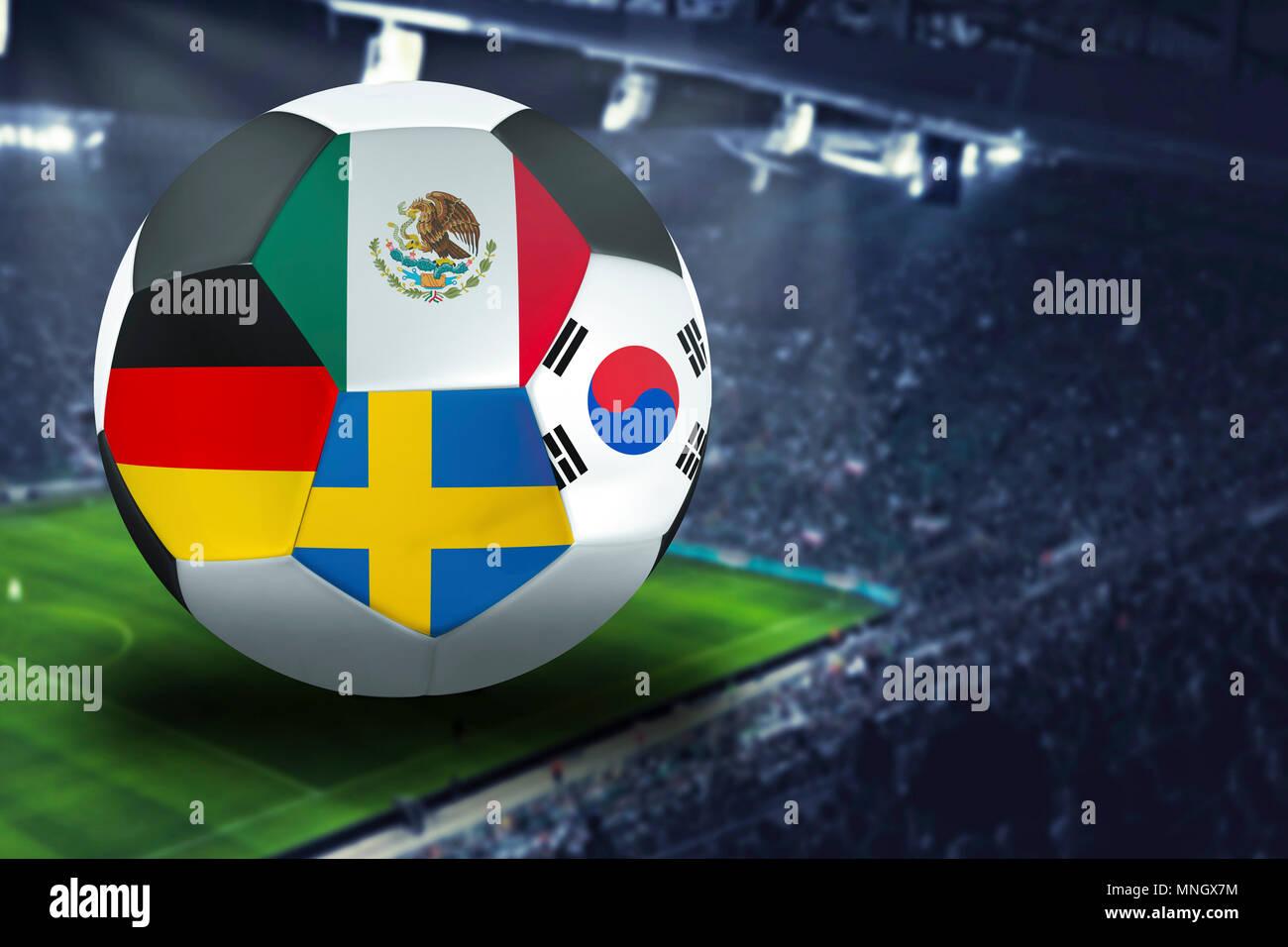 Fahne Flag Stadion Deutschland Mexiko Schweden Südkorea WM DFB Russland 2018