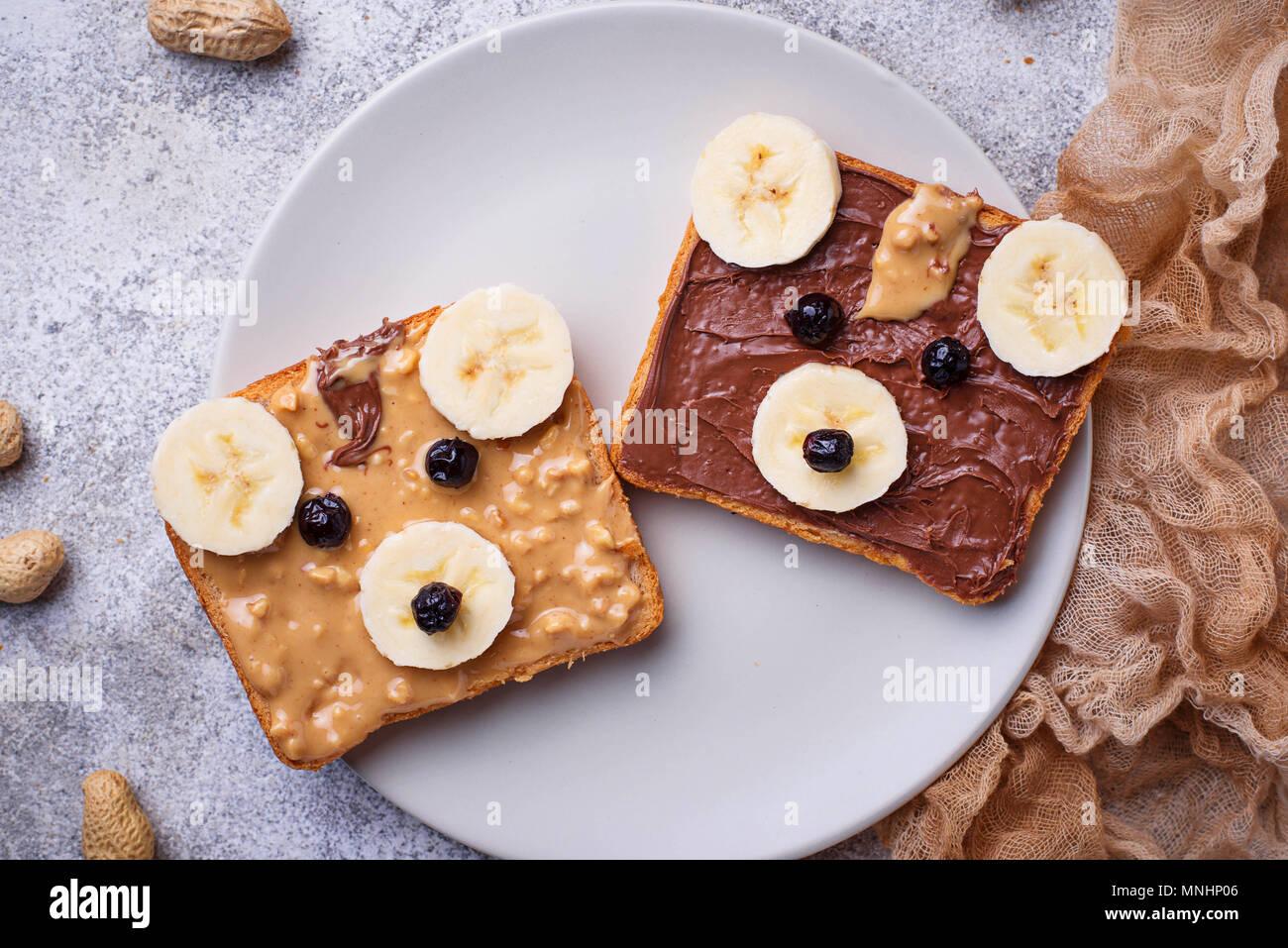 Sandwiches in Form von Bear Stockfoto
