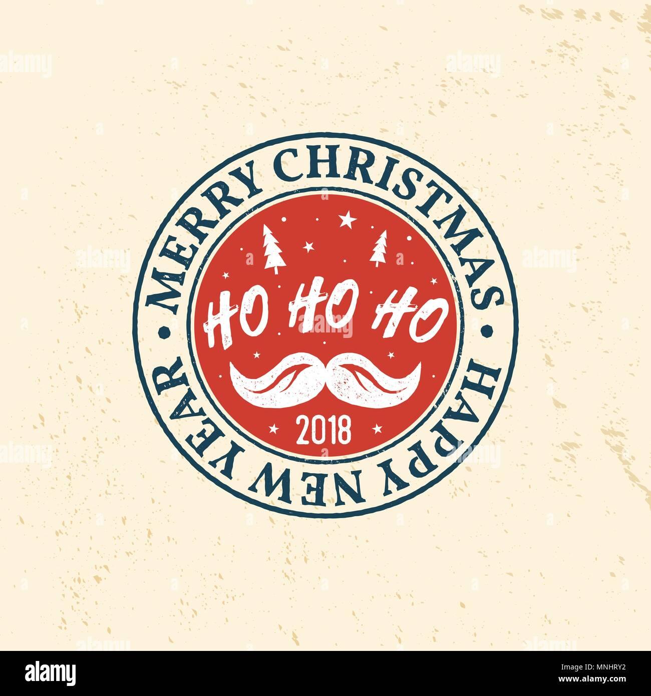 Ho Ho Ho Frohe Weihnachten.Frohe Weihnachten Und Ein Gluckliches Neues Jahr 2018 Retro
