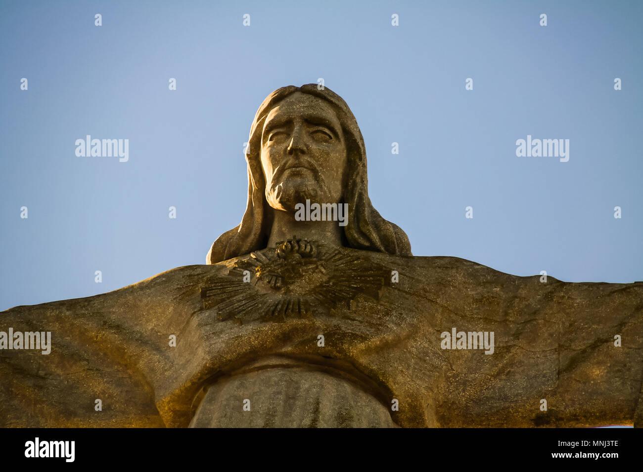 Die nationalen Heiligtum von Christus, dem König, Statue in Lissabon, Portugal. Stockbild