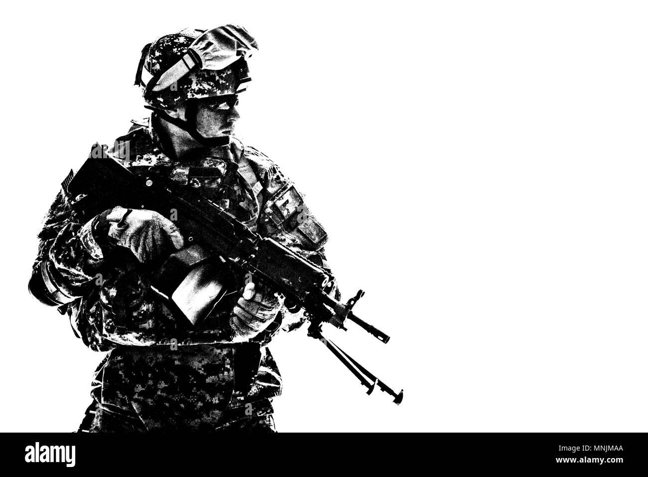 Us Marines Machine Gun Military Stockfotos & Us Marines Machine Gun ...