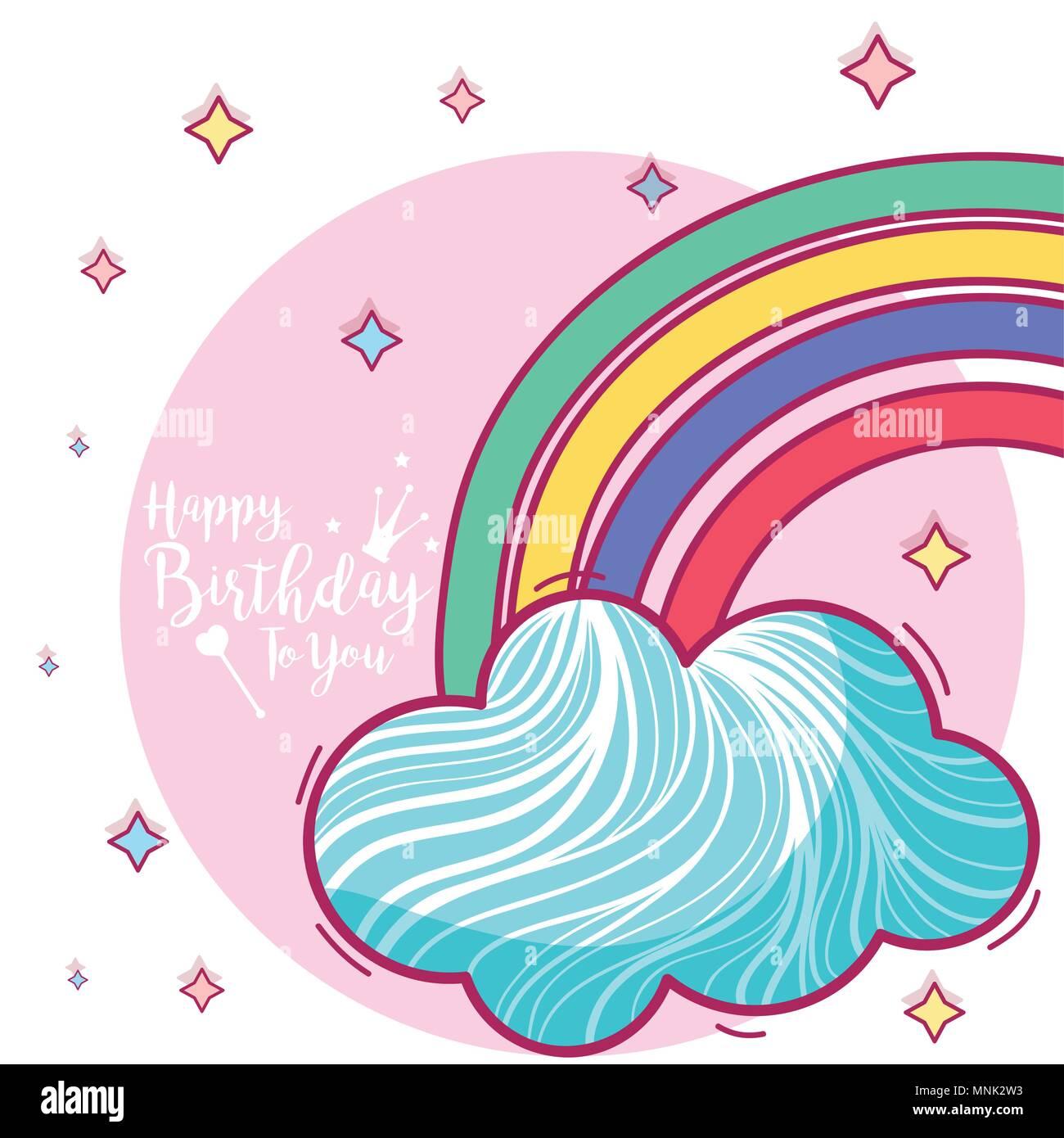 Alles Gute zum Geburtstagskarte Stockbild