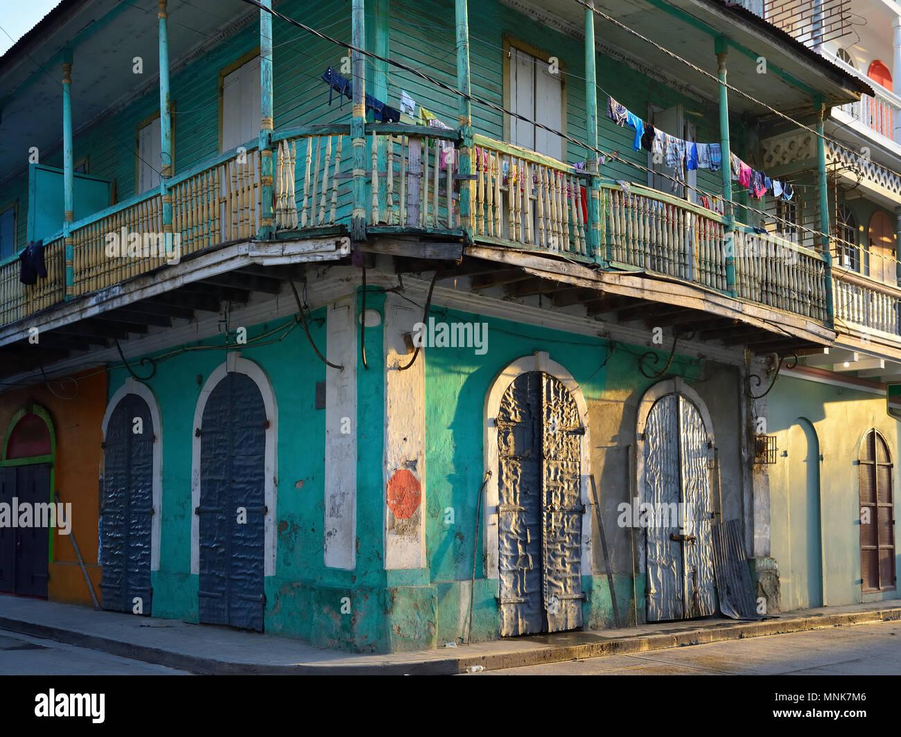 Cap Haitien Stadt in Haiti Stockbild