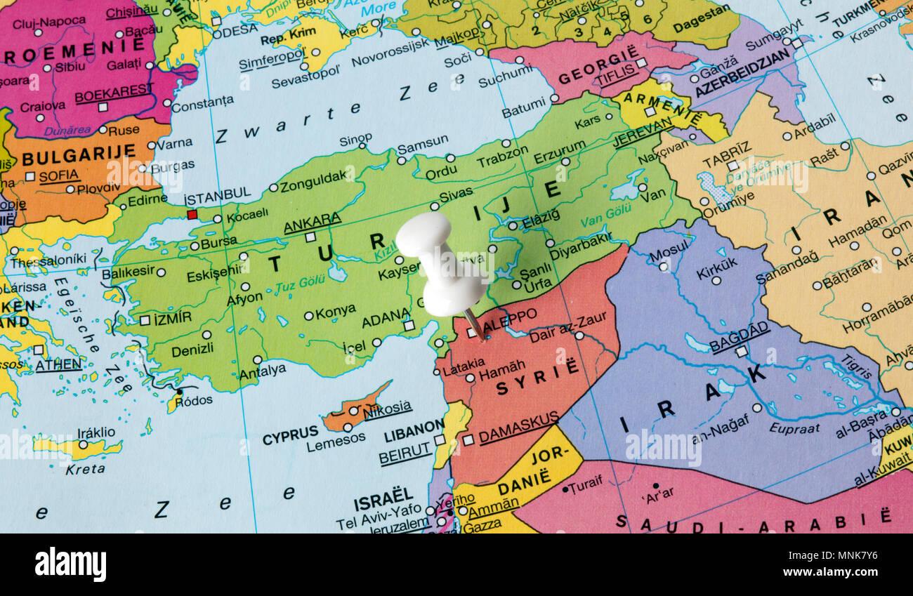 Syrien Karte 2016.Den Haag Niederlande 12 Marz 2016 Karte Von Syrien