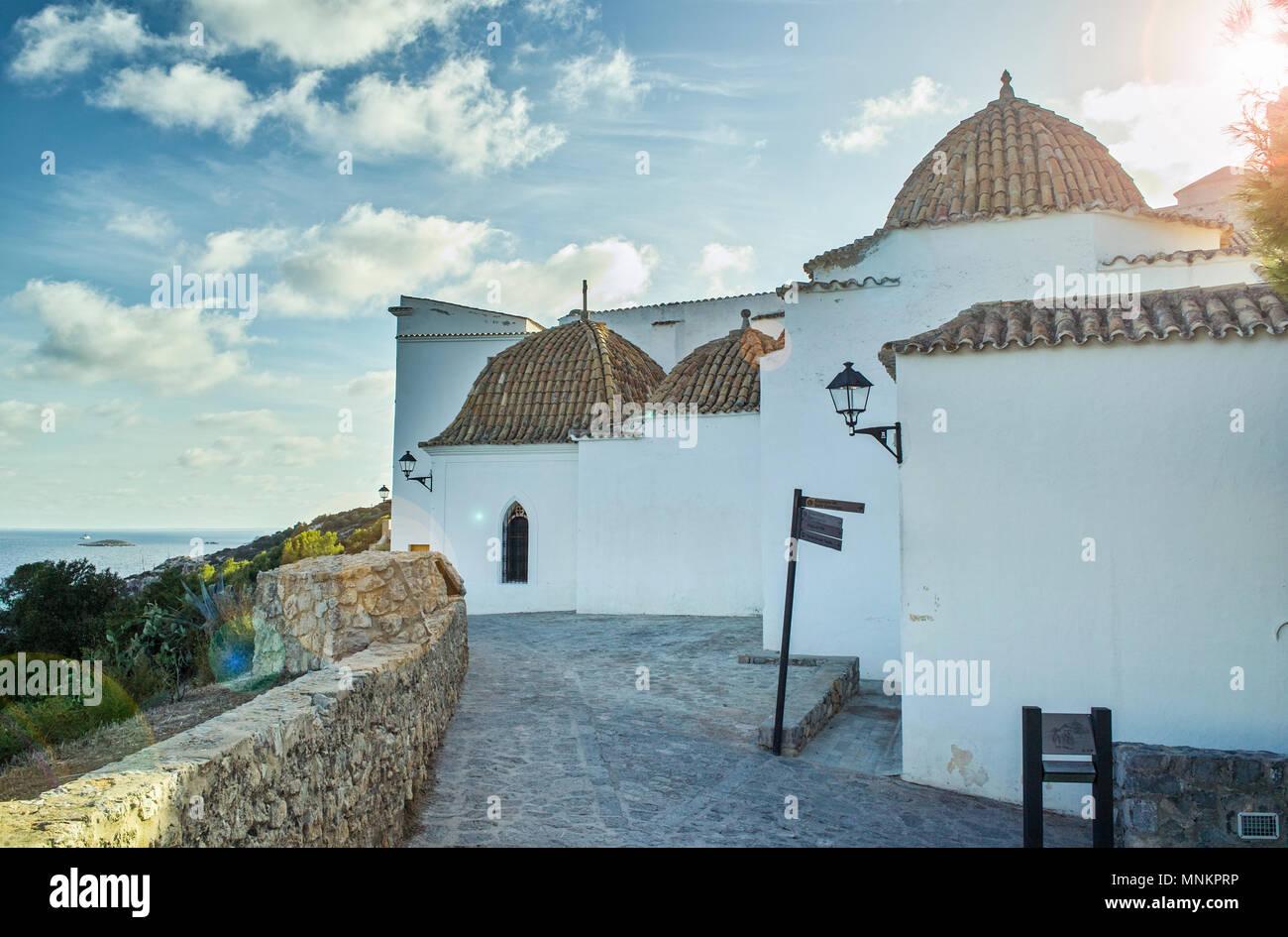 Ibiza Stadt Insel Küste Spanien Stockbild