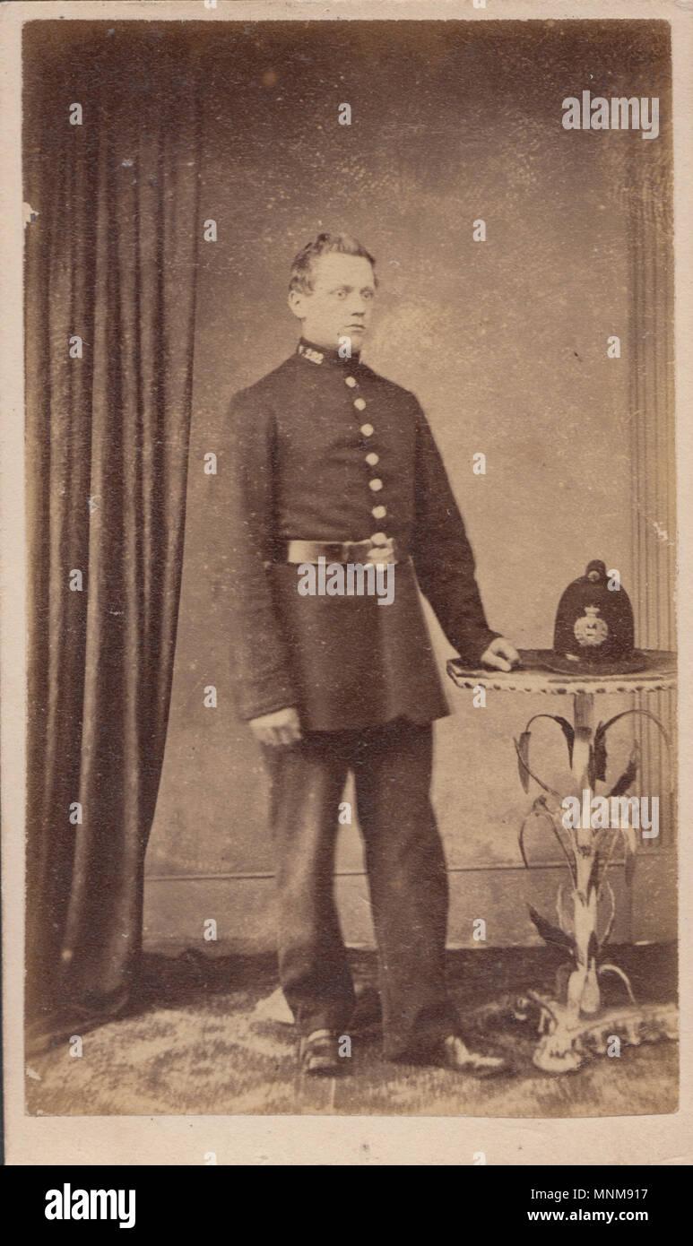 Wandsworth London CDV Carte De Visite Eines Viktorianischen Polizist Stockbild