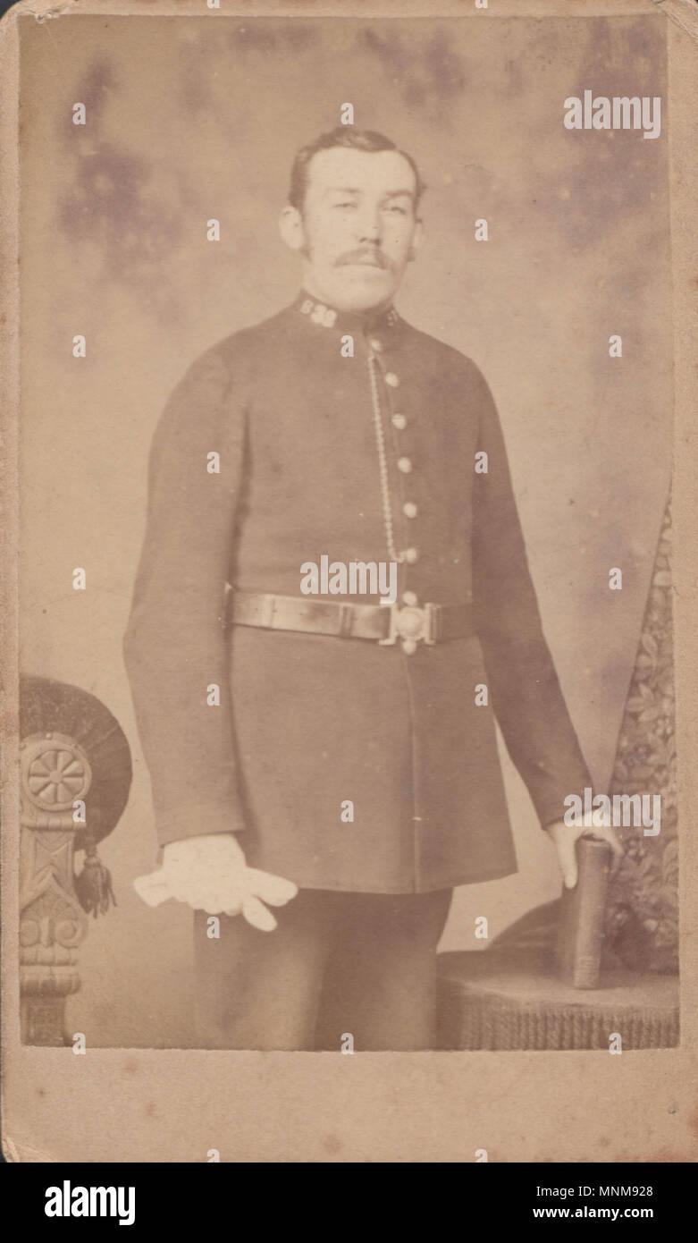 CDV (Carte de Visite) der Viktorianischen Polizist Stockfoto, Bild ...