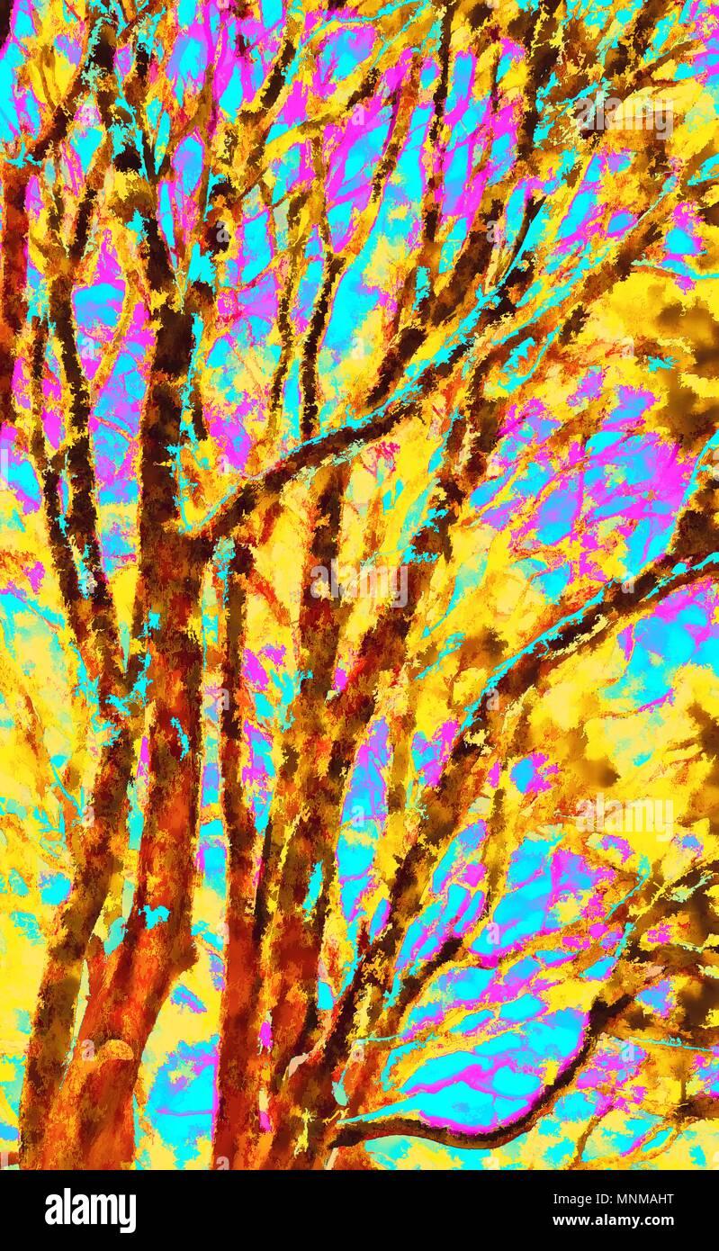Abstrakte farbenfrohe Grafik digital Foto Kunst Malerei Stockbild
