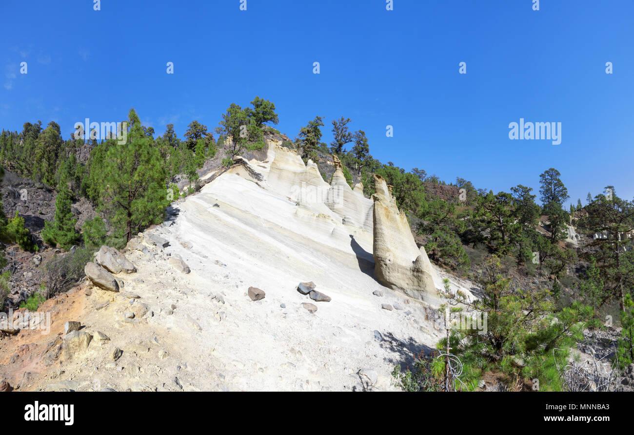 Teneriffa - Rock Formation Paisaje Lunar Stockbild