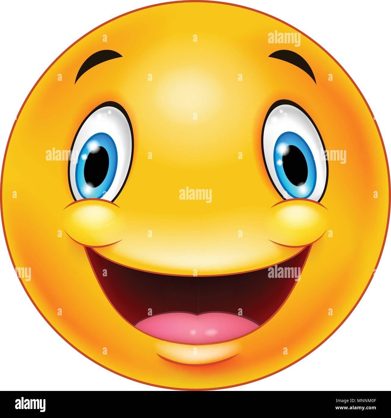 Lachendes Smiley Emoticon Gesicht Vektor Abbildung Bild 185488143