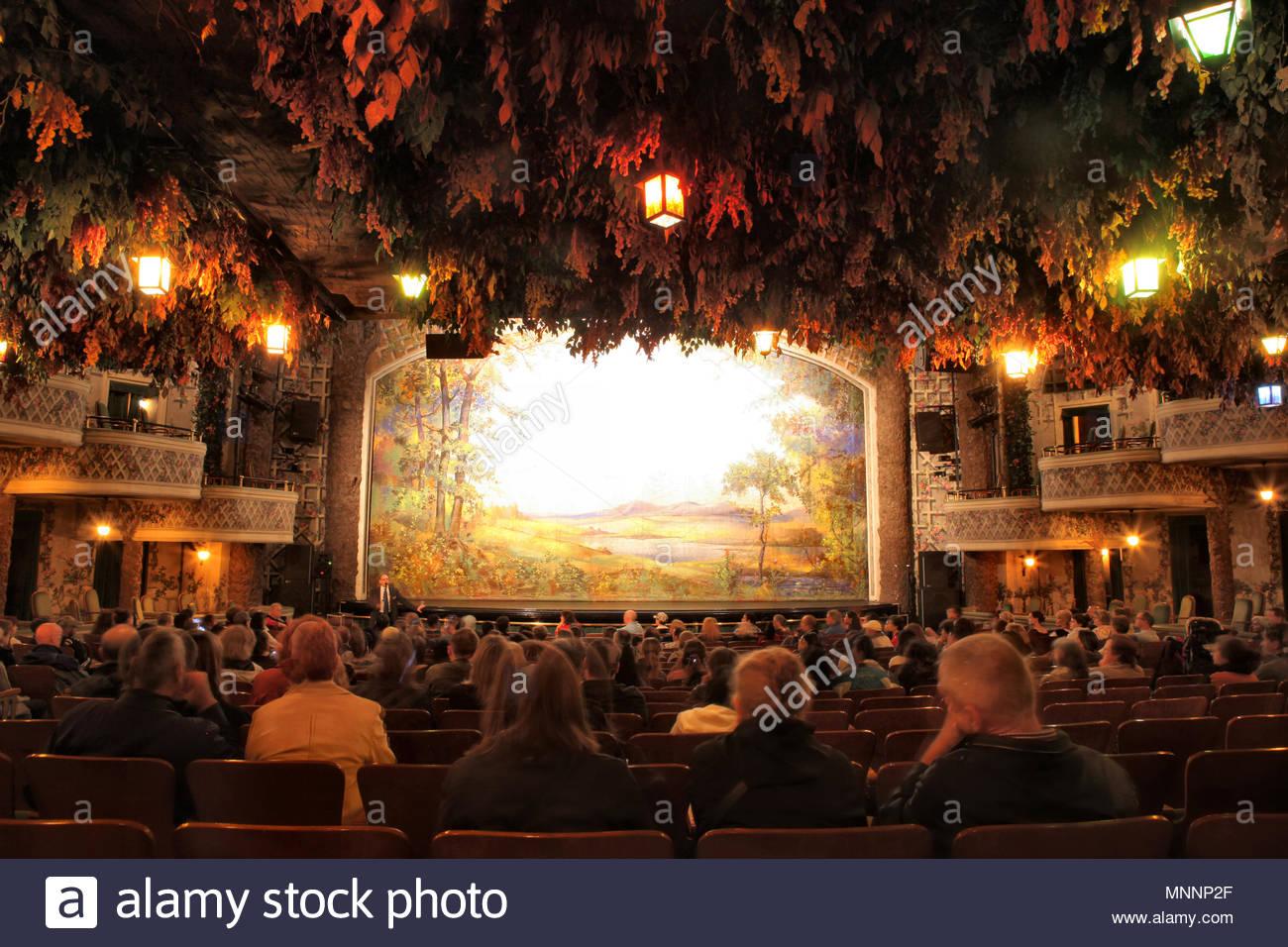 Innere Der Historischen Winter Garden Theatre Die Elgin Und