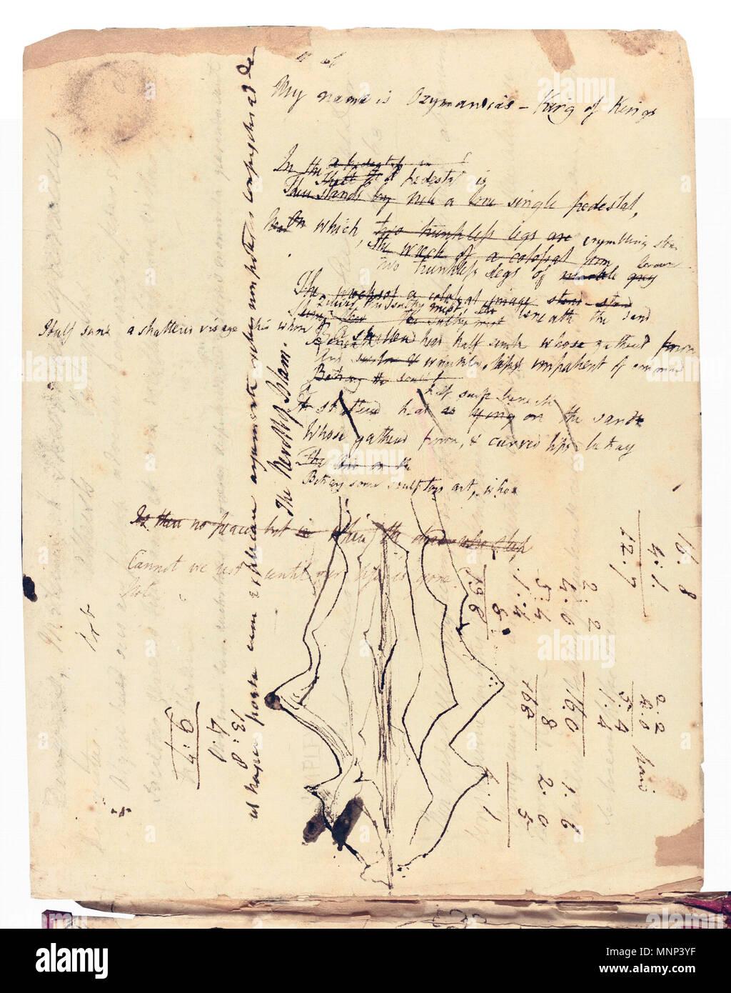 Englisch 1817 Entwurf Für Alles Bodleian Library Oxford 1817
