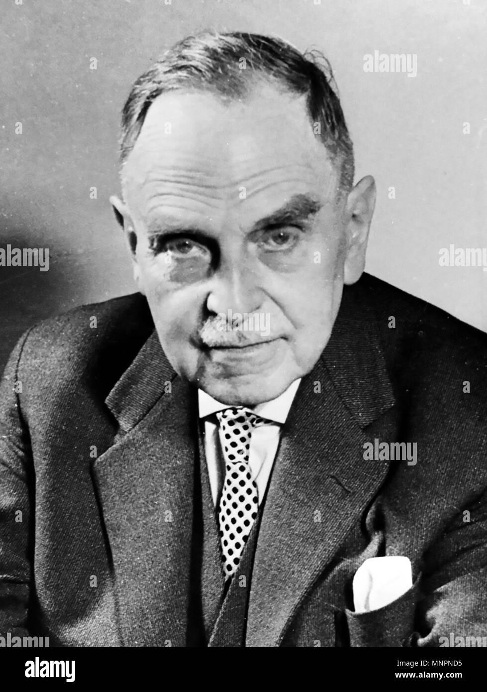 OTTO HAHN (1879-1968) deutscher Chemiker, der mehrere Radio aktive Elemente entdeckt Stockbild