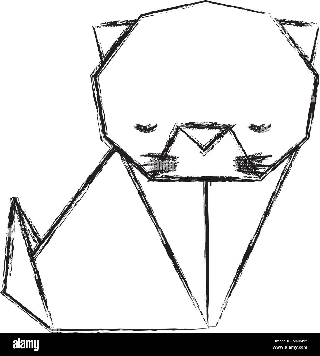 Cat Origami Papier Symbol Vektor Abbildung Bild 185519767 Alamy Diagram