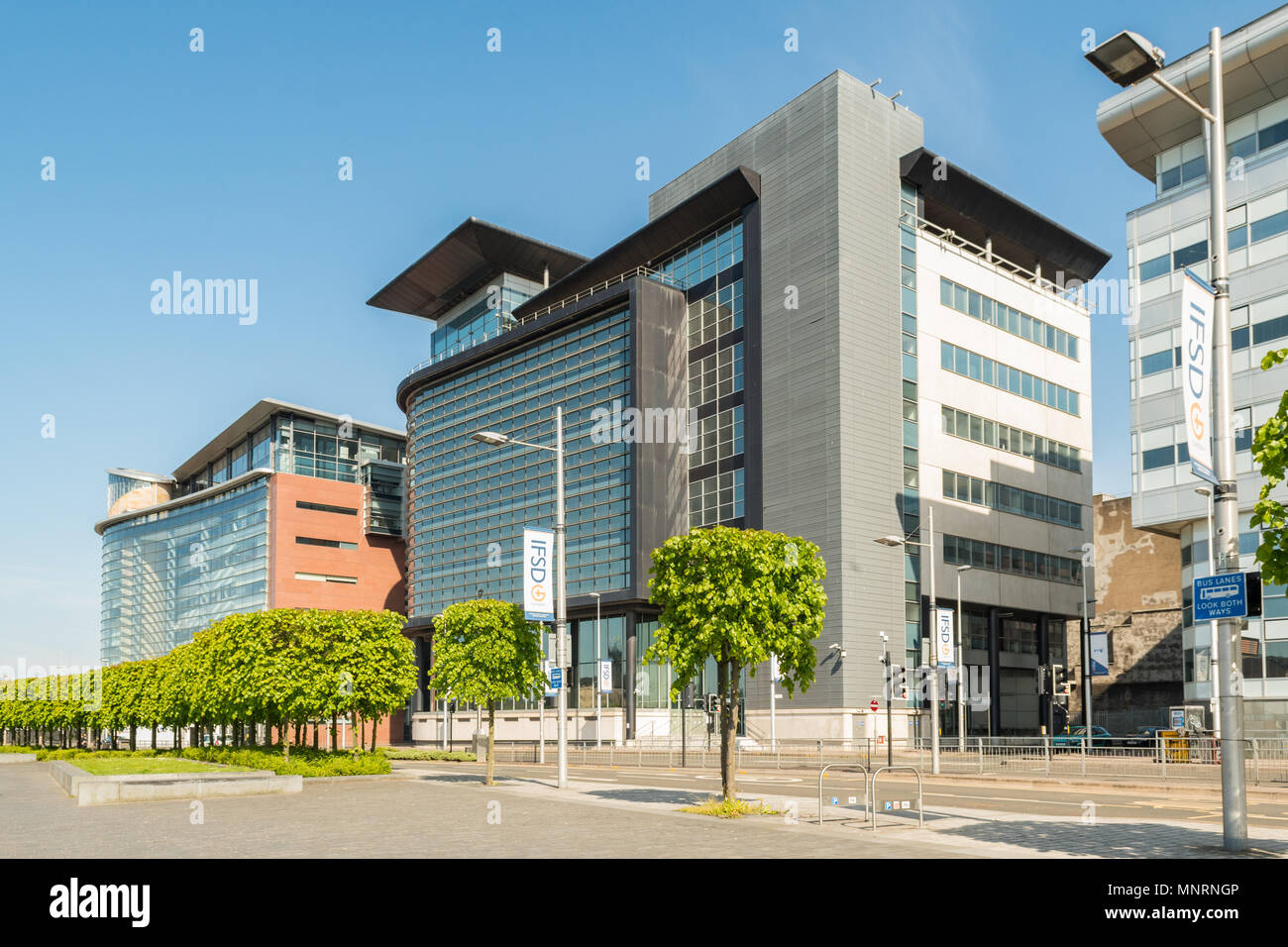 Glasgow International Financial Services District IFSD, 150 und 200 Broomielaw, Glasgow, Schottland, Großbritannien Stockbild