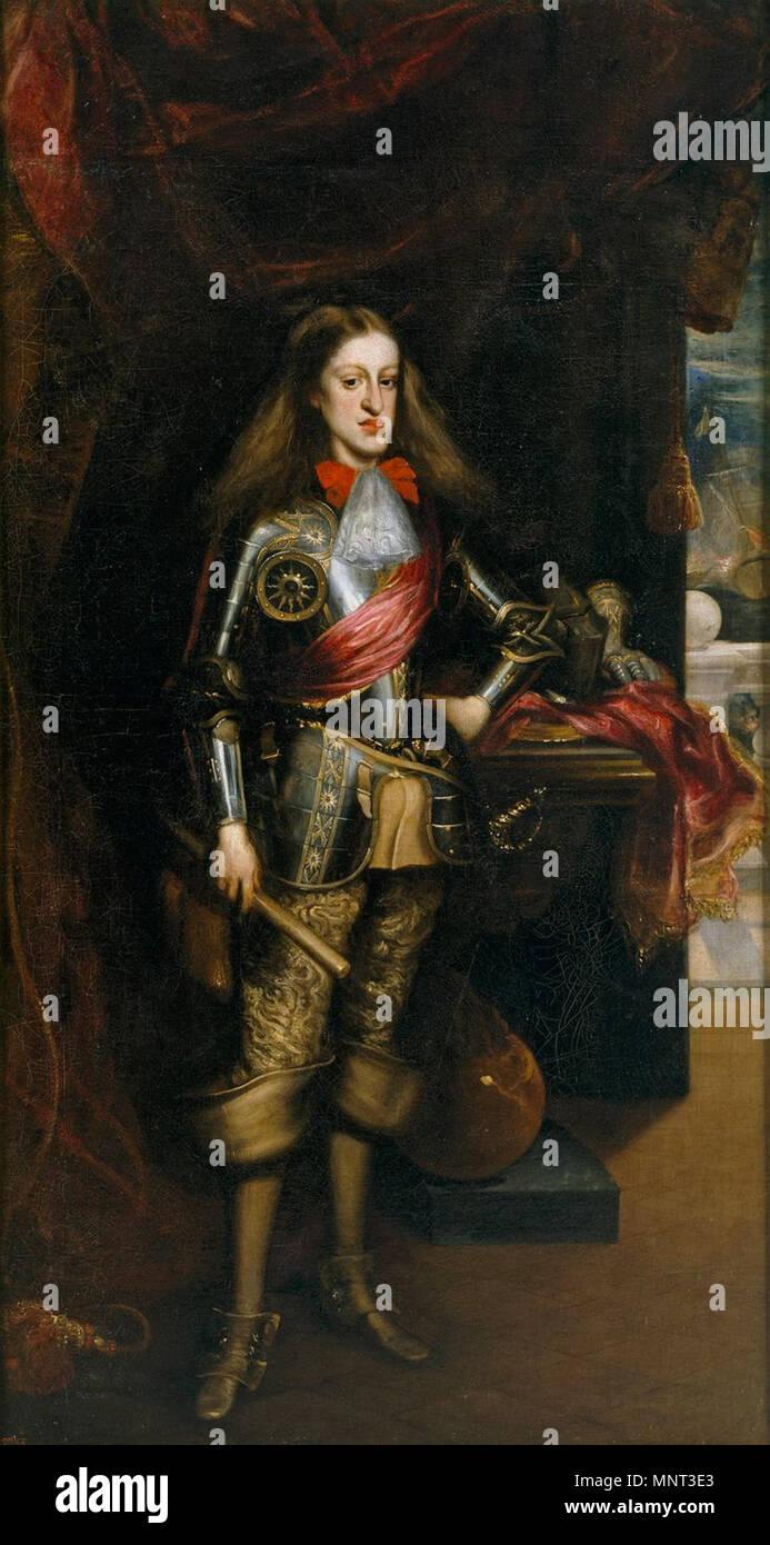 Español: El Rey Carlos II, con armadura. Español: Retrato del Rey ...