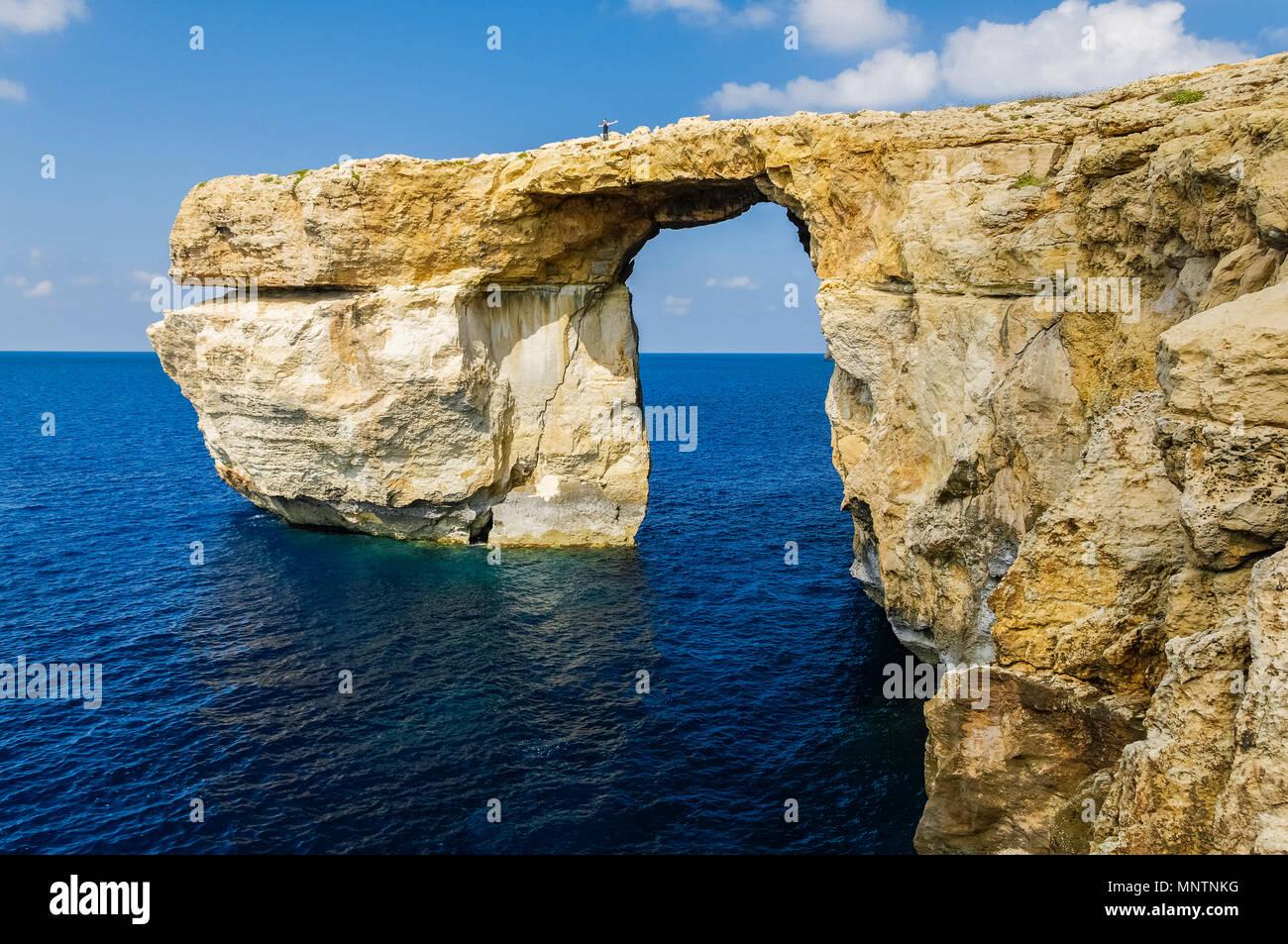 Azure Window Fenster oder Dwejra Gozo, Malta, Mittelmeer, Atlantik Stockbild
