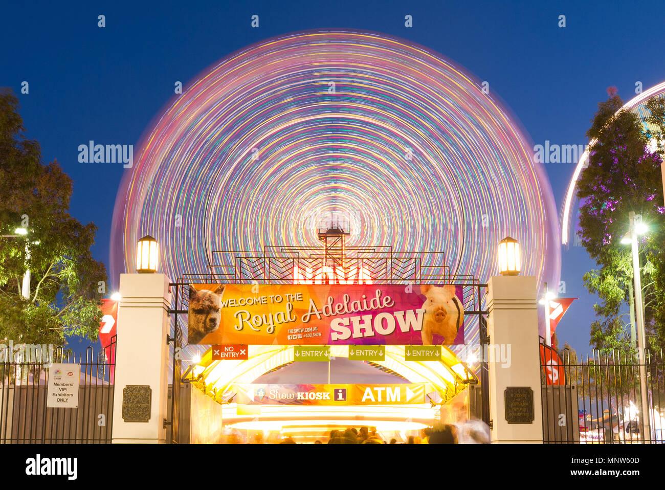 Das Royal Adelaide Show ist eine beliebte jährliche Veranstaltung in South Australia, Australien mit einer Auswahl an Karneval Fahrten und Unterhaltung. Stockbild