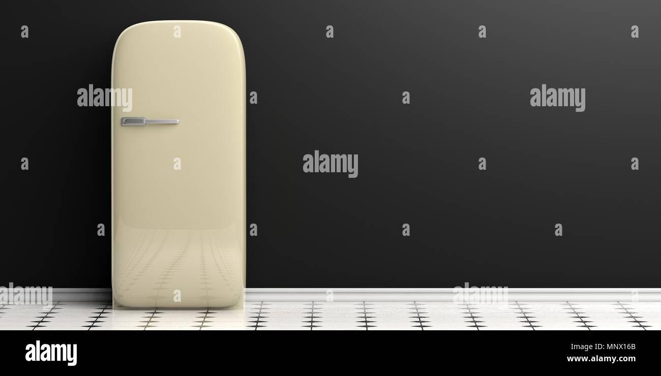 Kühlschrank Schwarz : Kühlschrank home appliance vintage kühlschrank auf schwarz weiße