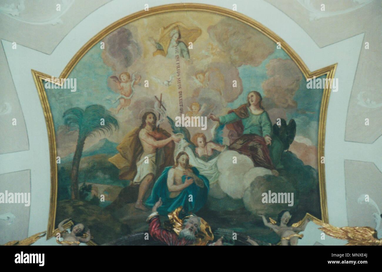 St Johannes Baptist Dietkirch Deckenfresko Im Chor